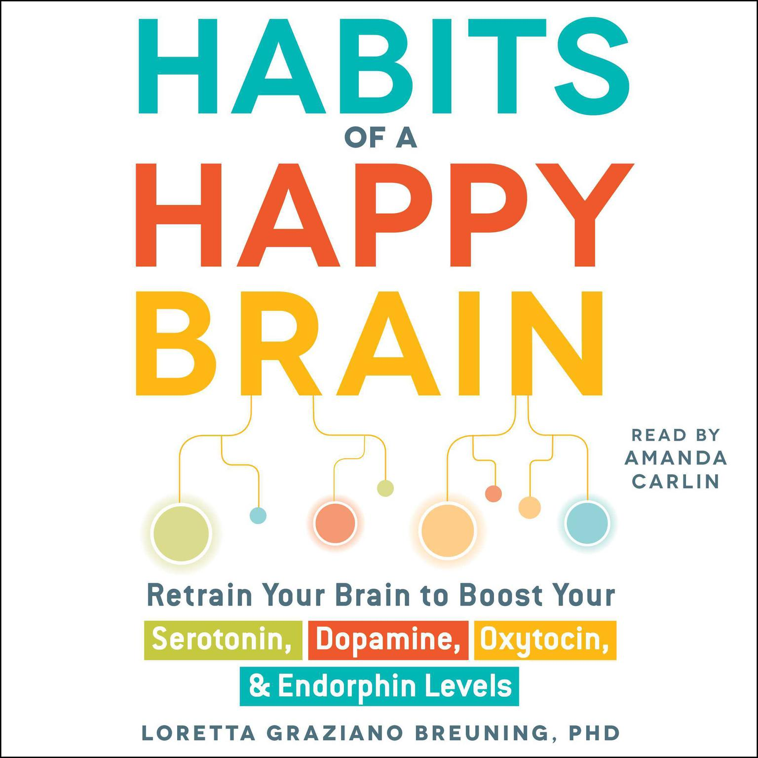 Printable Habits of a Happy Brain: Retrain Your Brain to Serotonin, Dopamine, Oxytocin, & Endorphin Levels Audiobook Cover Art