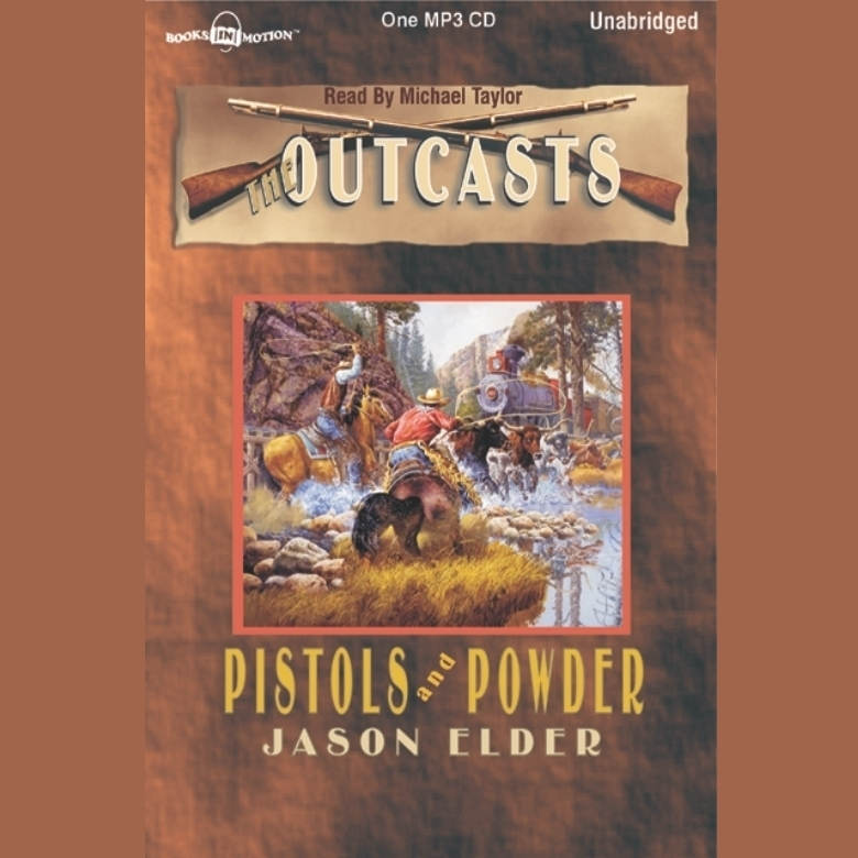 Printable Pistols and Powder Audiobook Cover Art