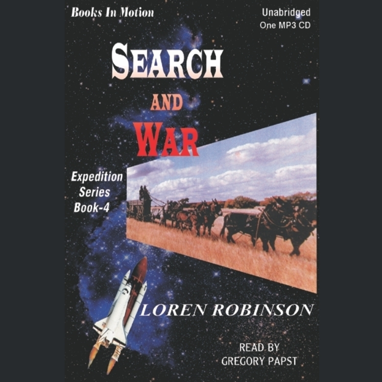 Printable Search and War Audiobook Cover Art