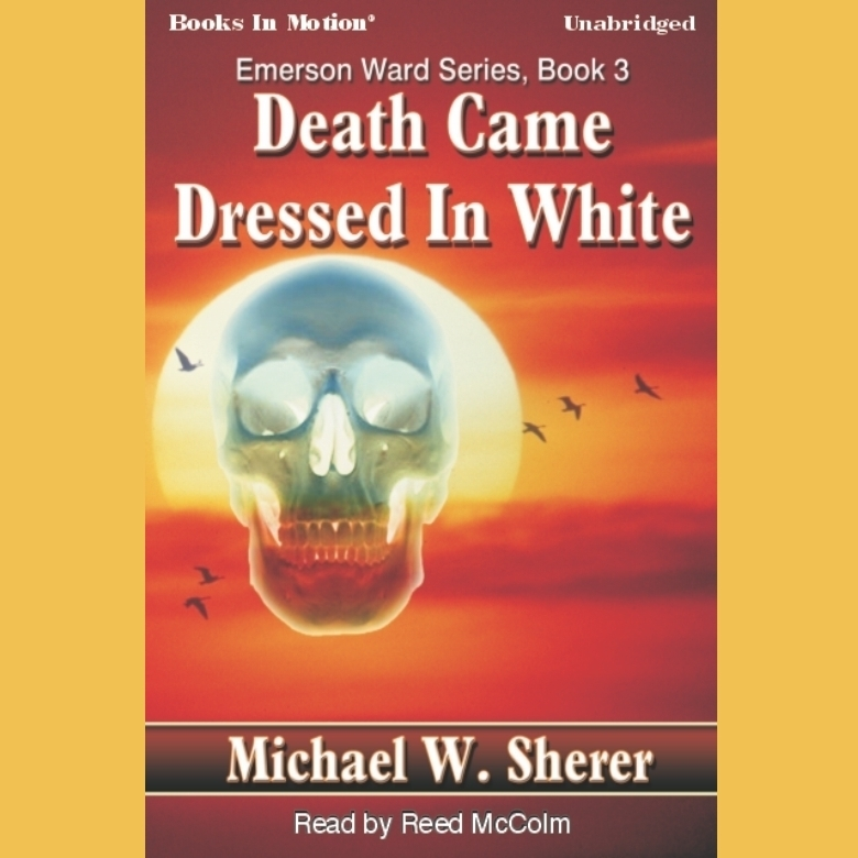 Printable Death Came Dressed In White Audiobook Cover Art
