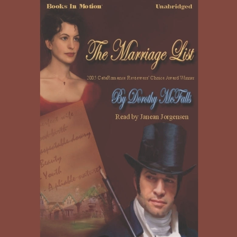 Printable The Marriage List Audiobook Cover Art