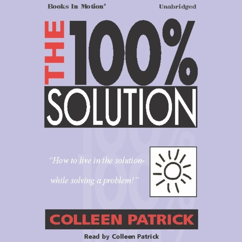 Printable The 100% Solution Audiobook Cover Art