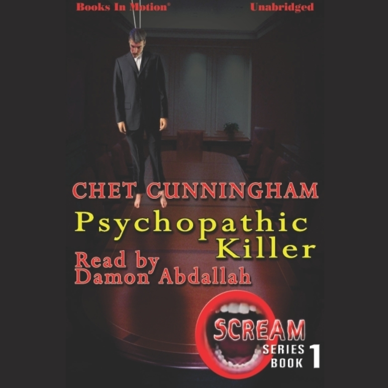 Printable Psychopathic Killer Audiobook Cover Art