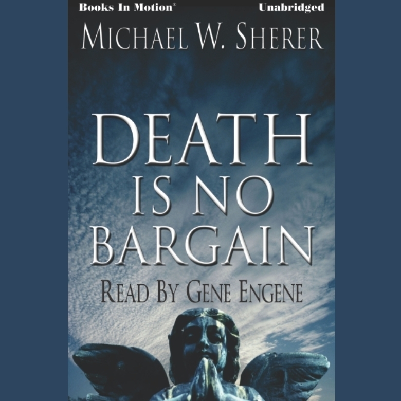 Printable Death Is No Bargain Audiobook Cover Art