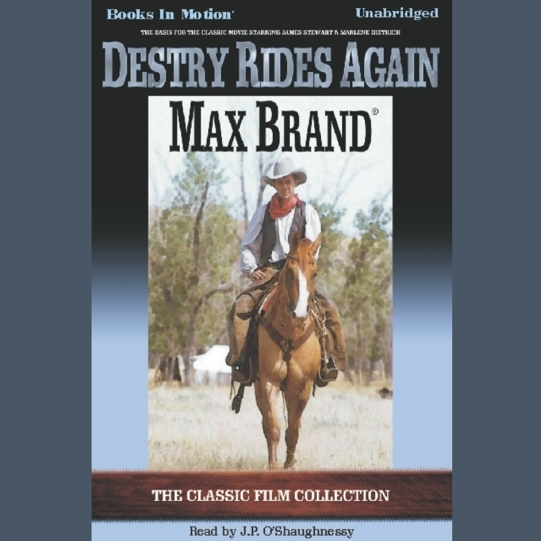 Printable Destry Rides Again Audiobook Cover Art