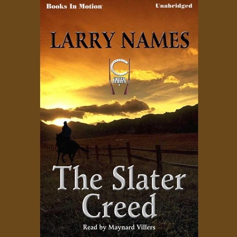 Printable The Slater Creed Audiobook Cover Art