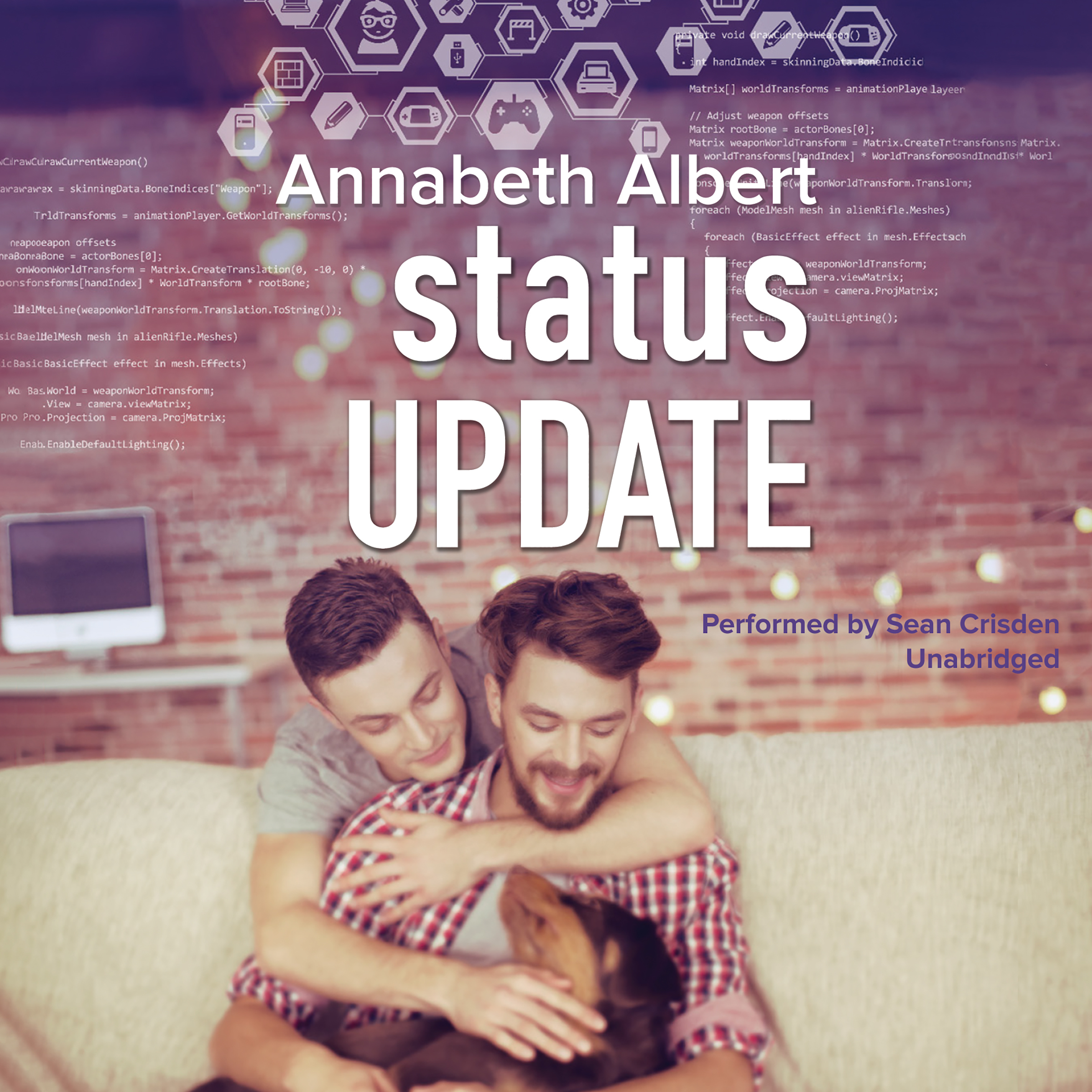 Printable Status Update Audiobook Cover Art