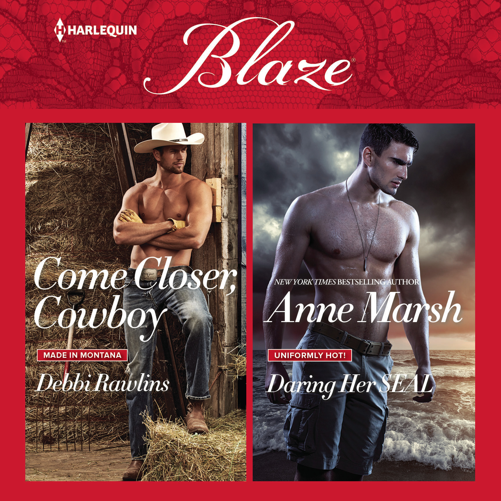 Printable Come Closer, Cowboy & Daring Her SEAL Audiobook Cover Art