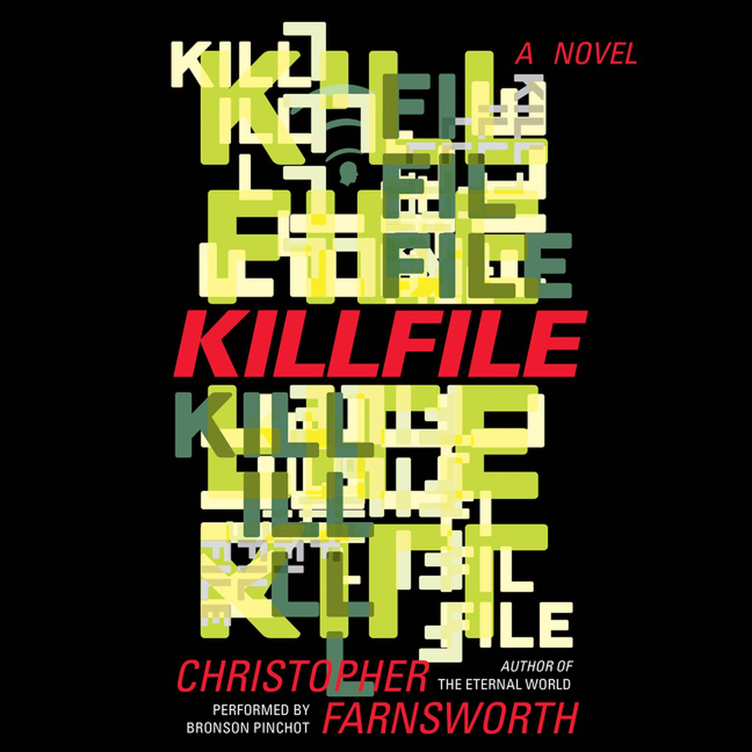 Printable Killfile: A Novel Audiobook Cover Art