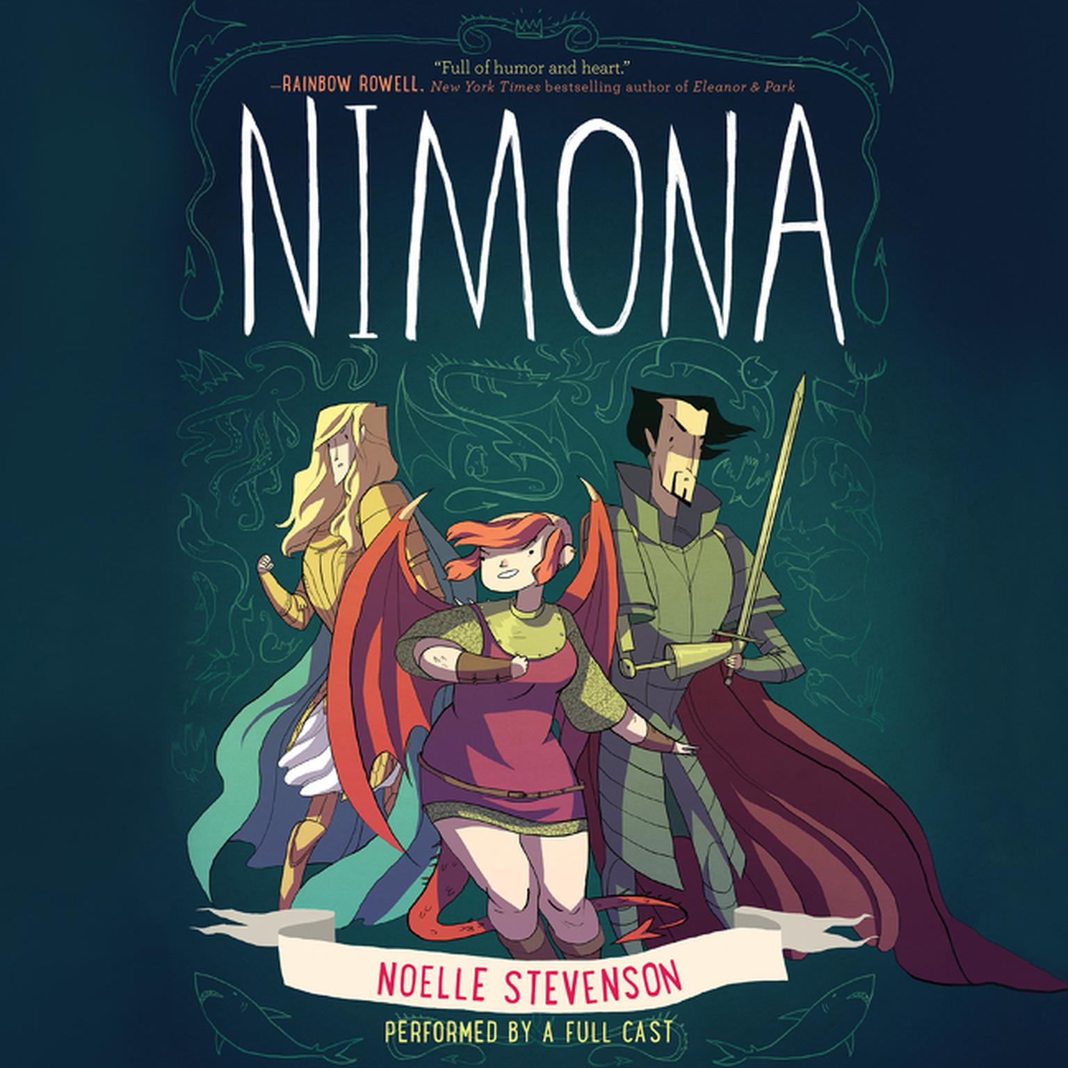 Printable Nimona Audiobook Cover Art
