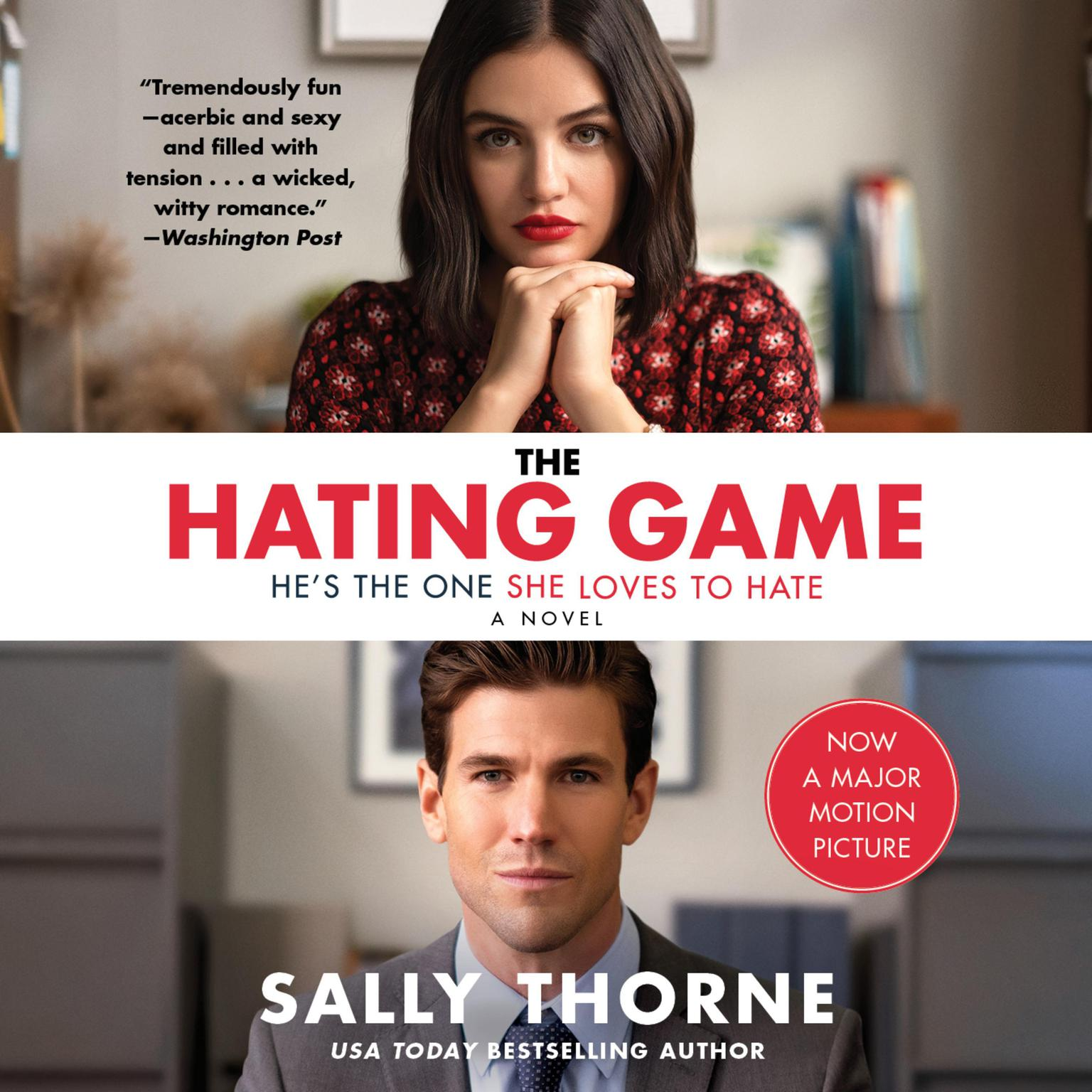 Printable The Hating Game: A Novel Audiobook Cover Art