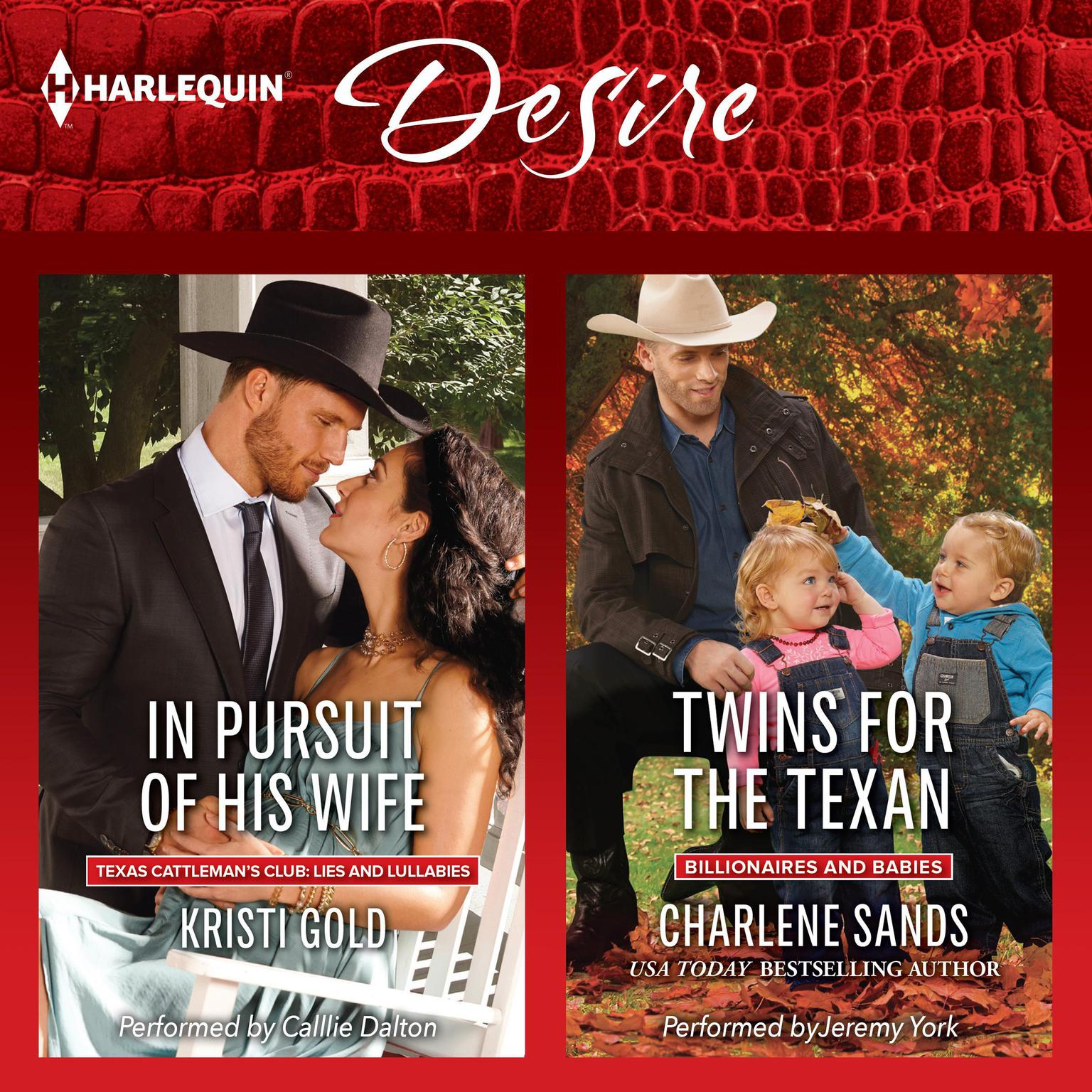 Printable In Pursuit of His Wife & Twins for the Texan Audiobook Cover Art