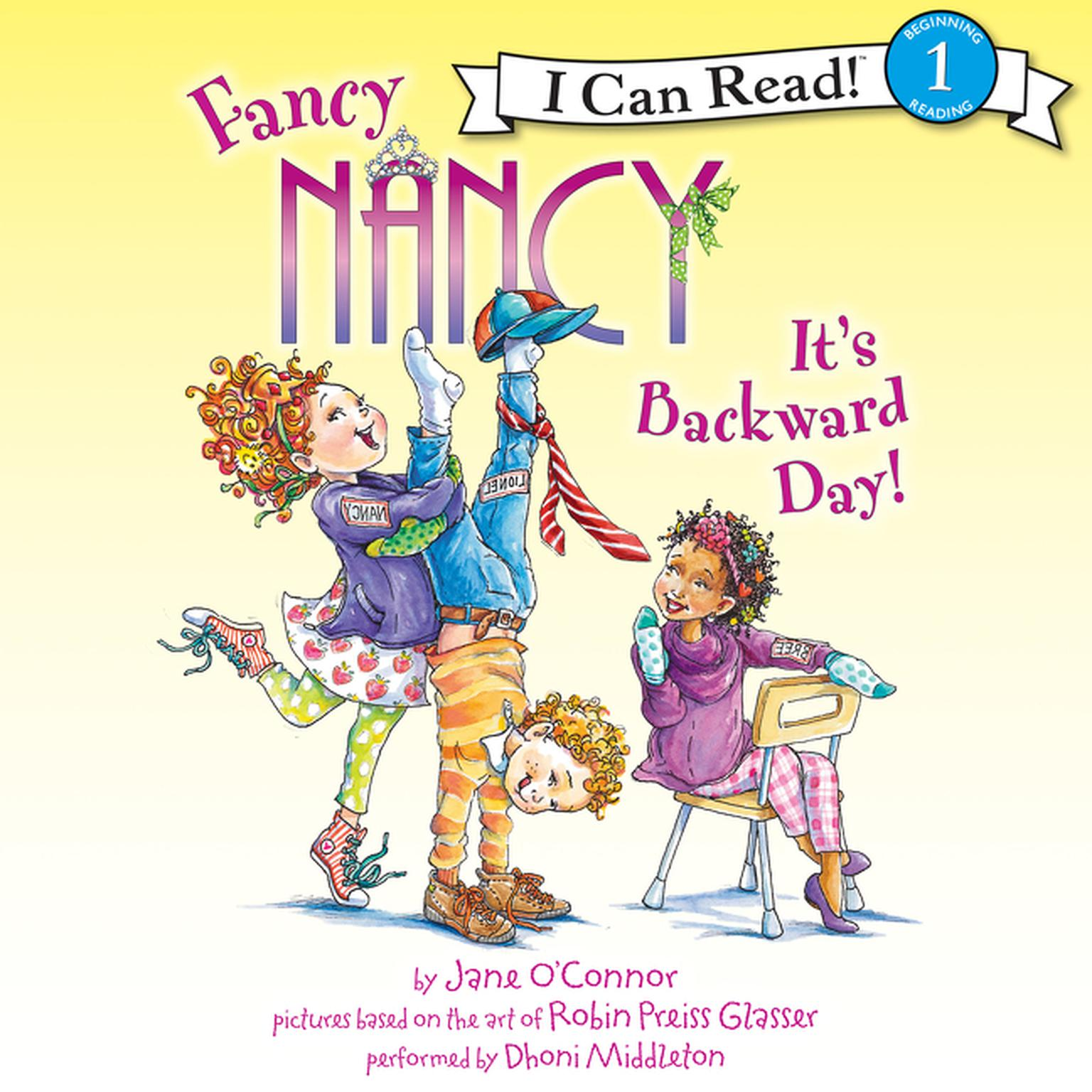 Printable Fancy Nancy: It's Backward Day! Audiobook Cover Art