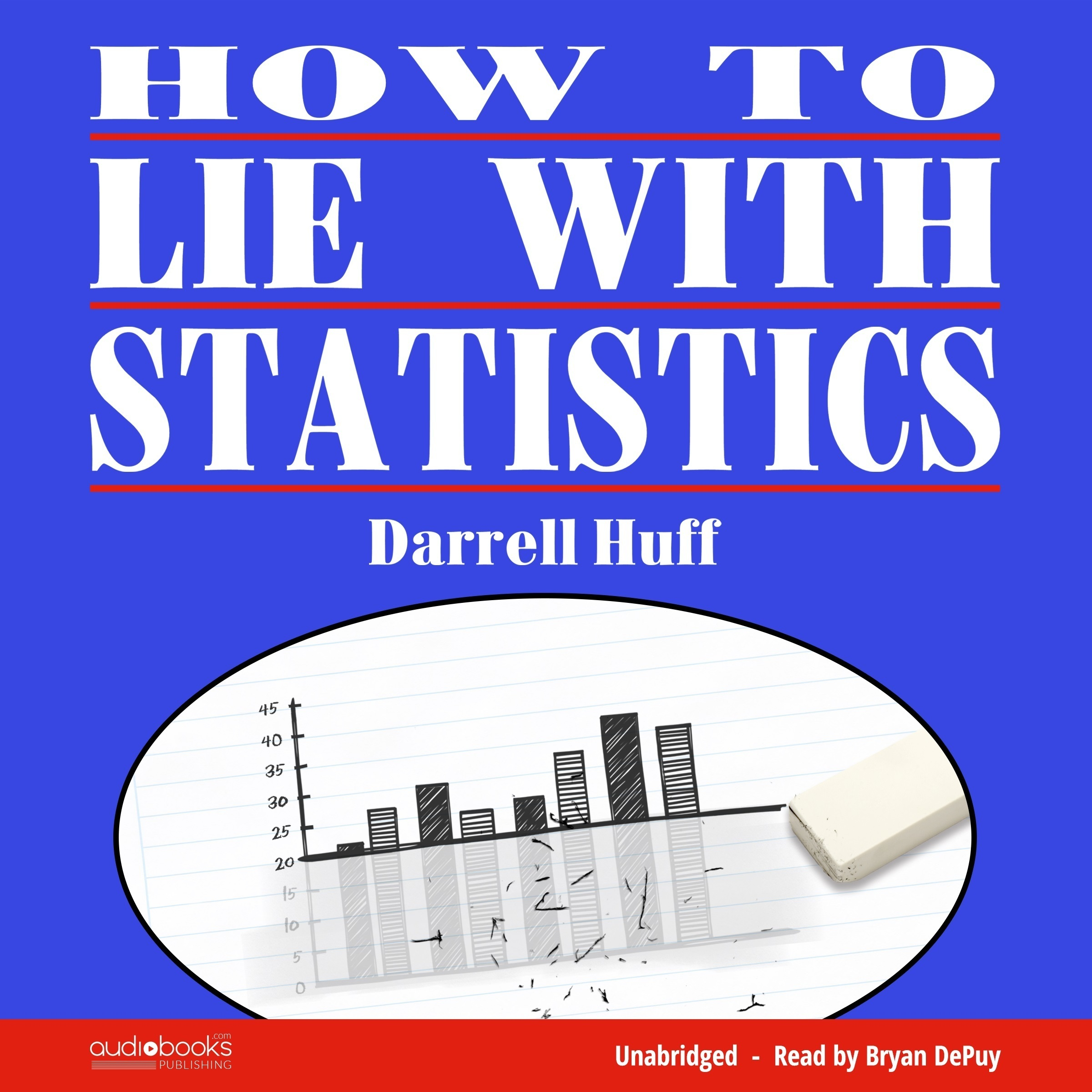 Printable How to Lie with Statistics Audiobook Cover Art