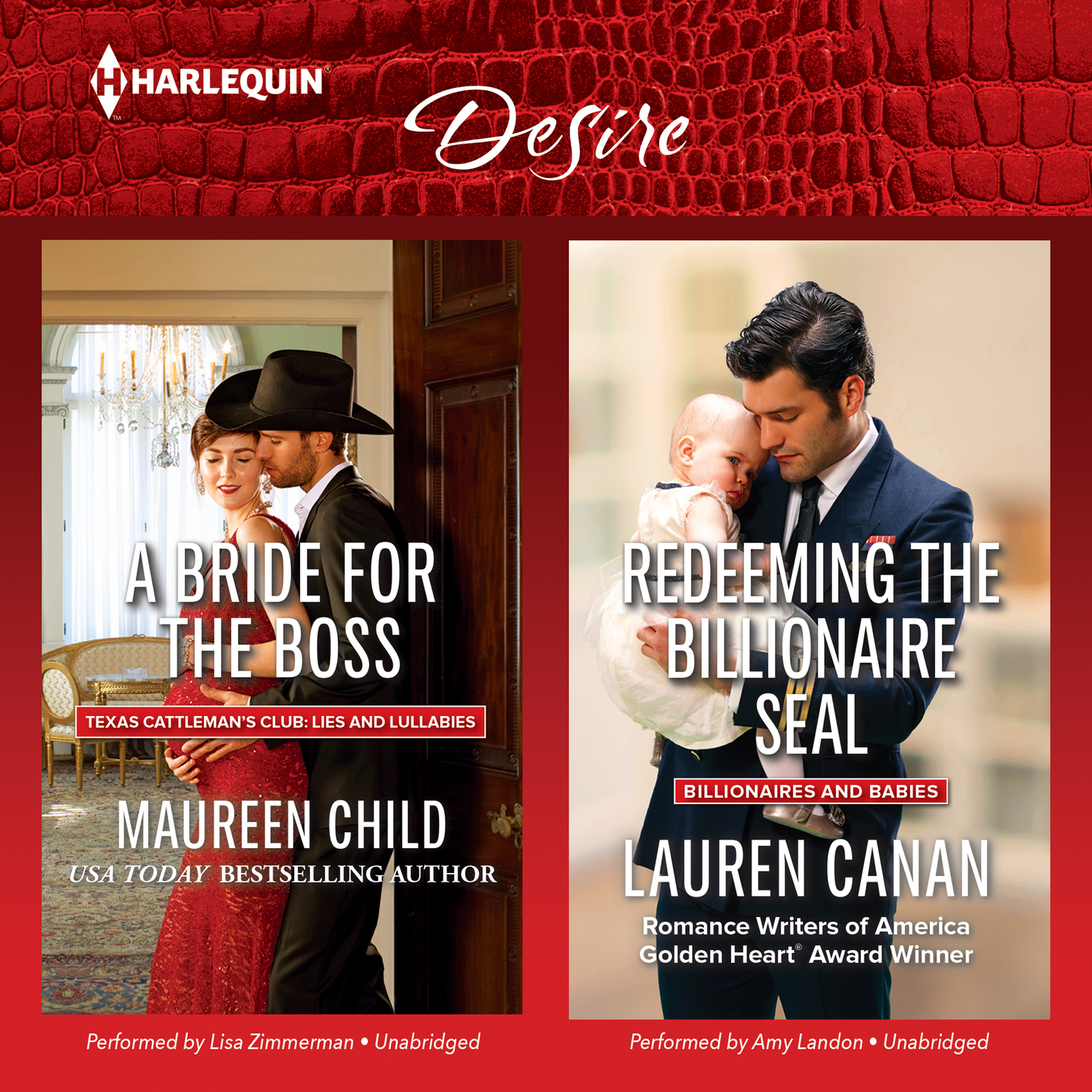 A Bride for the Boss & Redeeming the Billionaire SEAL Audiobook, by Maureen Child