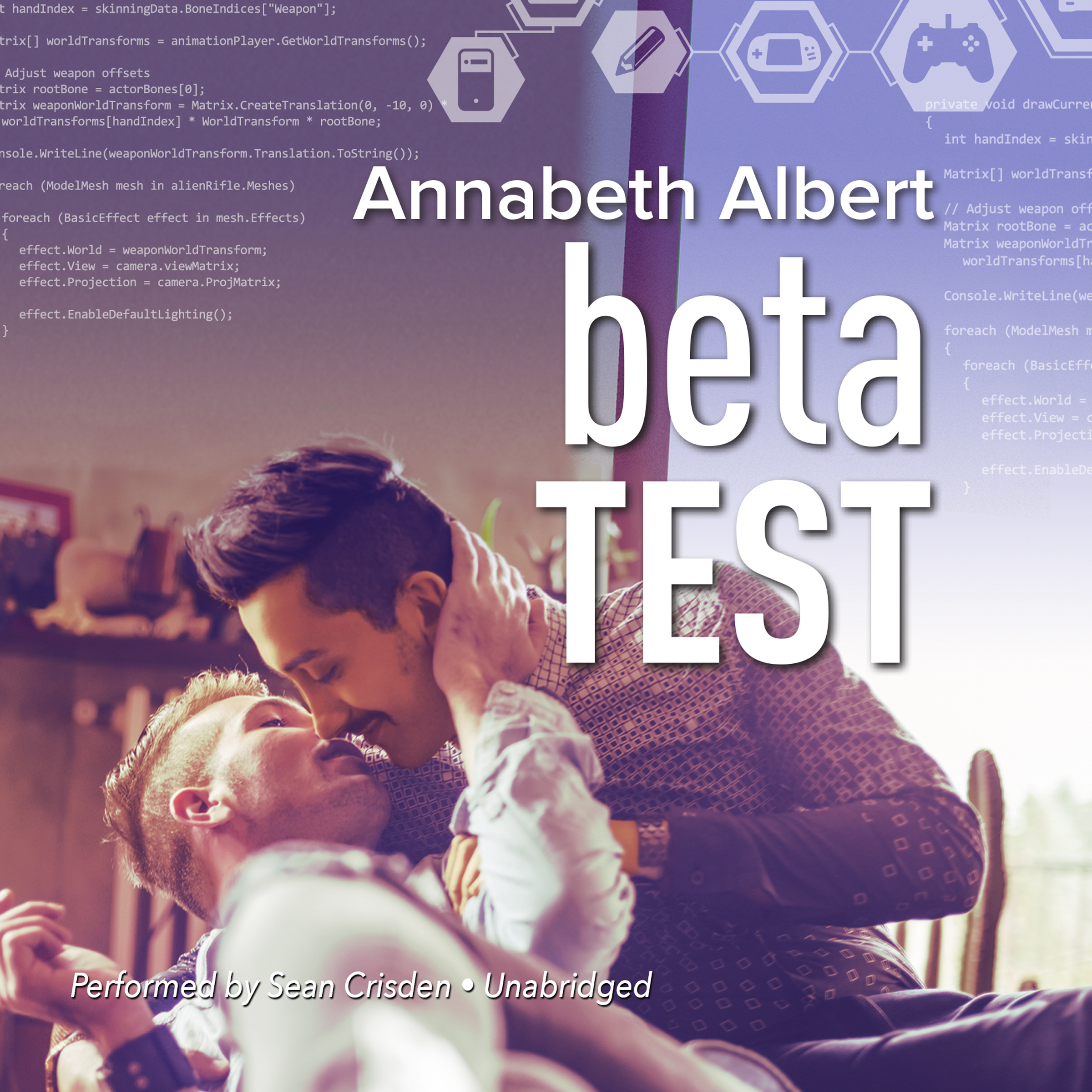 Printable Beta Test Audiobook Cover Art