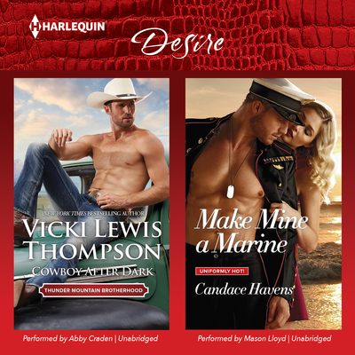 Cowboy after Dark & Make Mine a Marine Audiobook, by Vicki Lewis Thompson