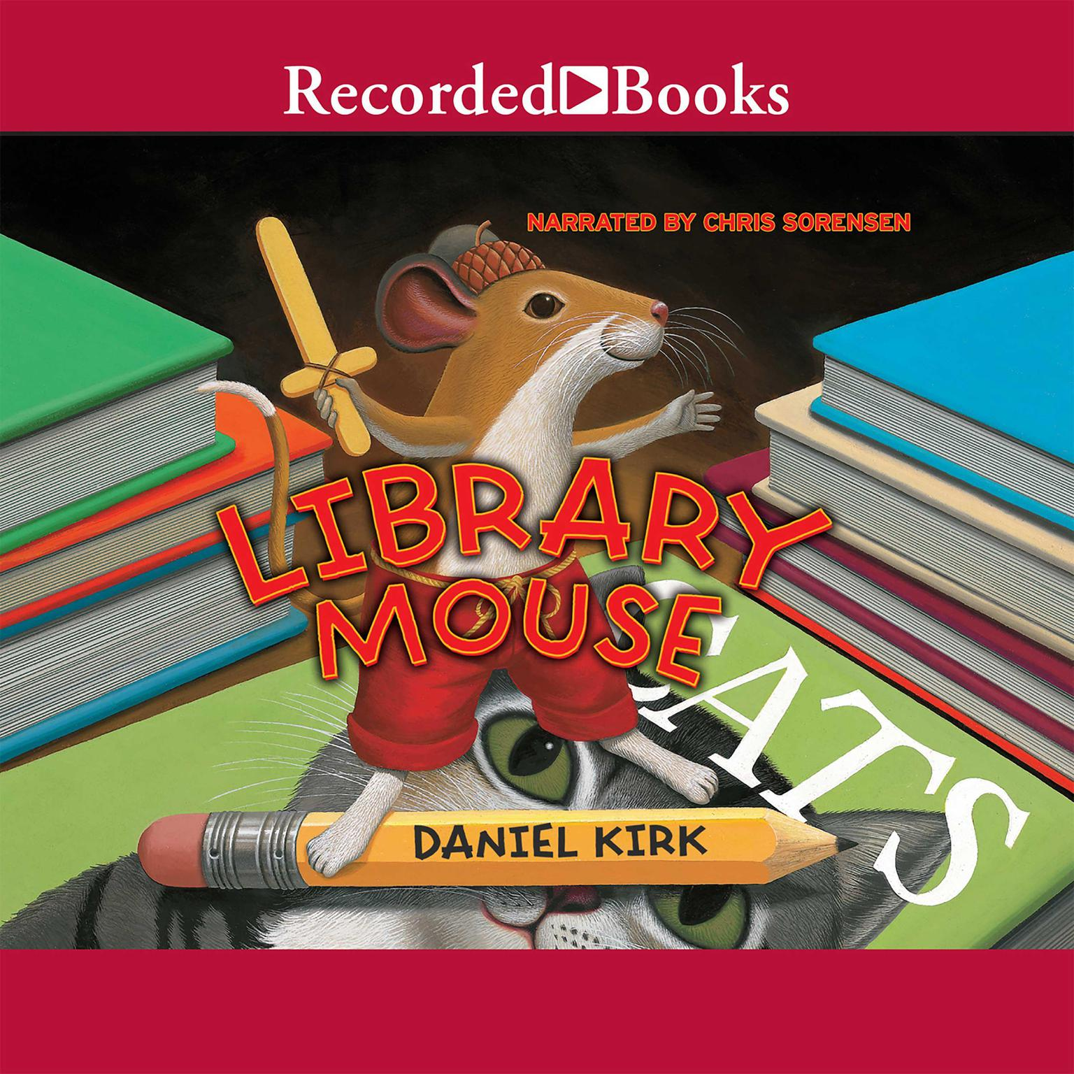 Printable Library Mouse Audiobook Cover Art