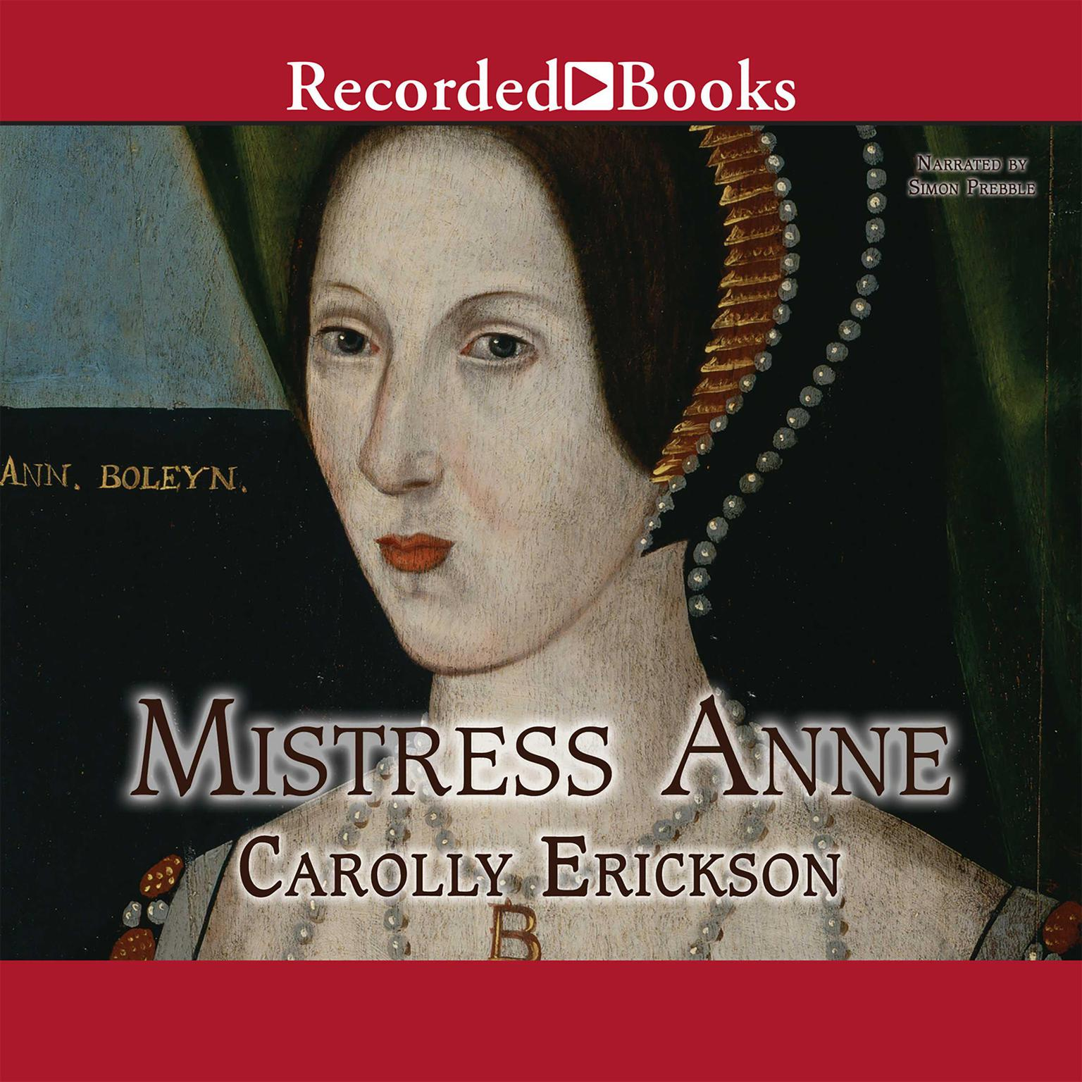 Printable Mistress Anne Audiobook Cover Art