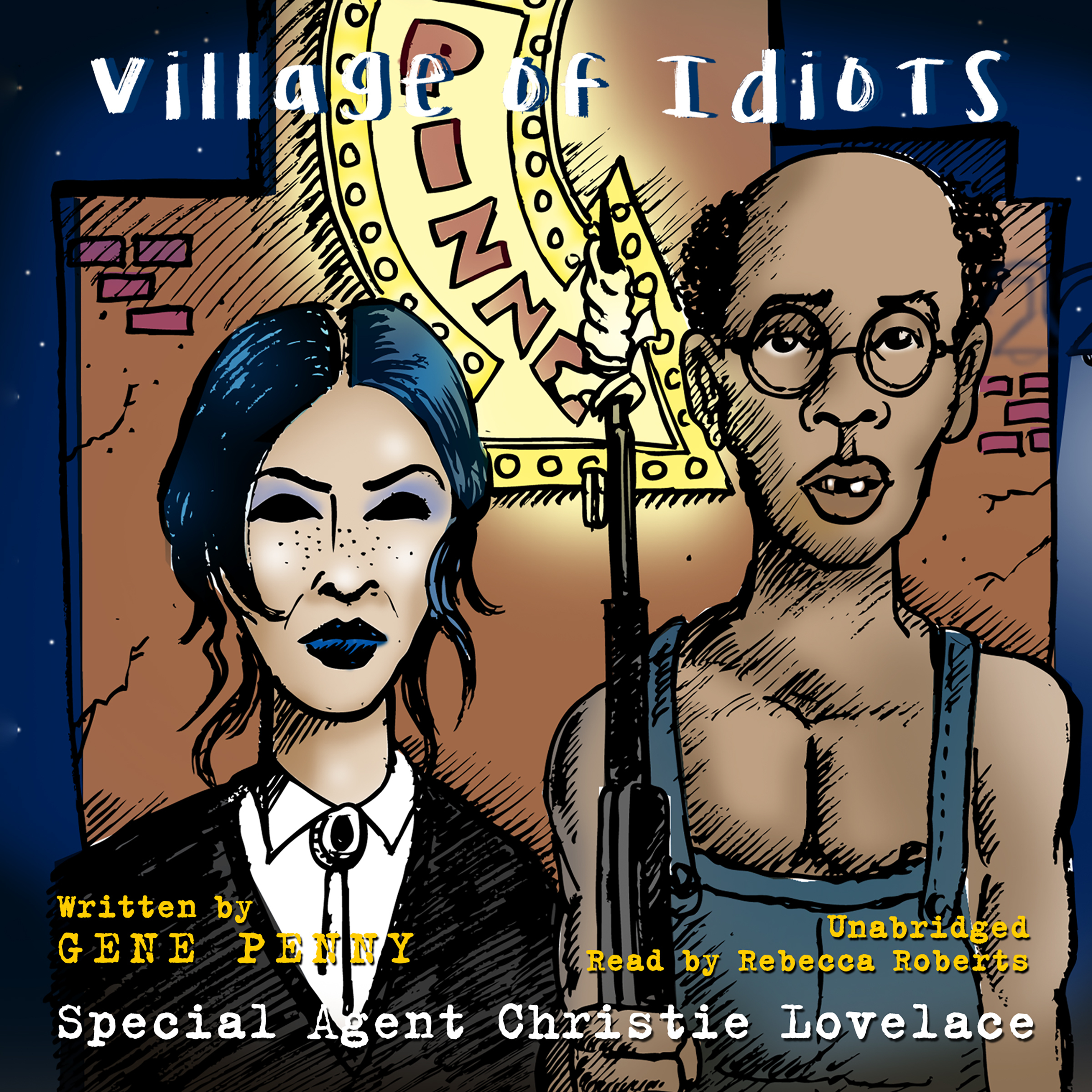 Printable Special Agent Christie Lovelace: Village of Idiots Audiobook Cover Art