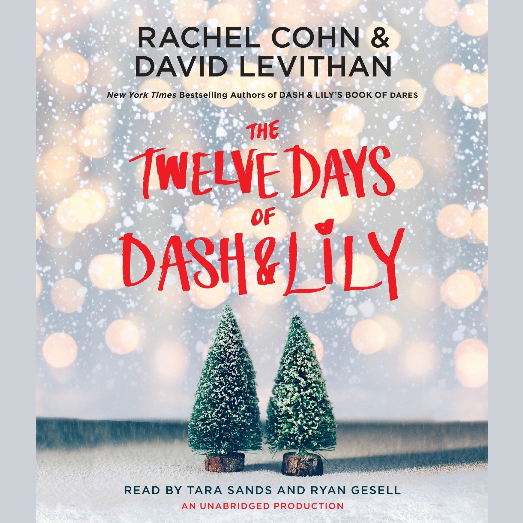 Printable The Twelve Days of Dash & Lily Audiobook Cover Art