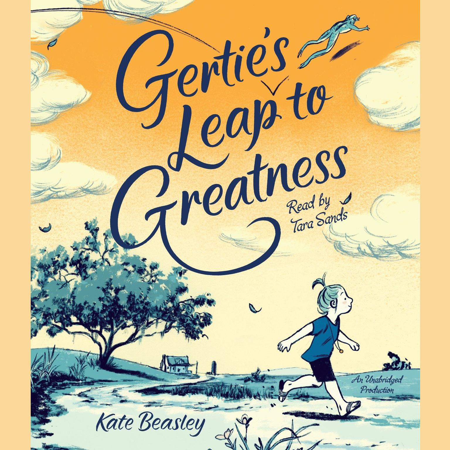 Printable Gertie's Leap to Greatness Audiobook Cover Art