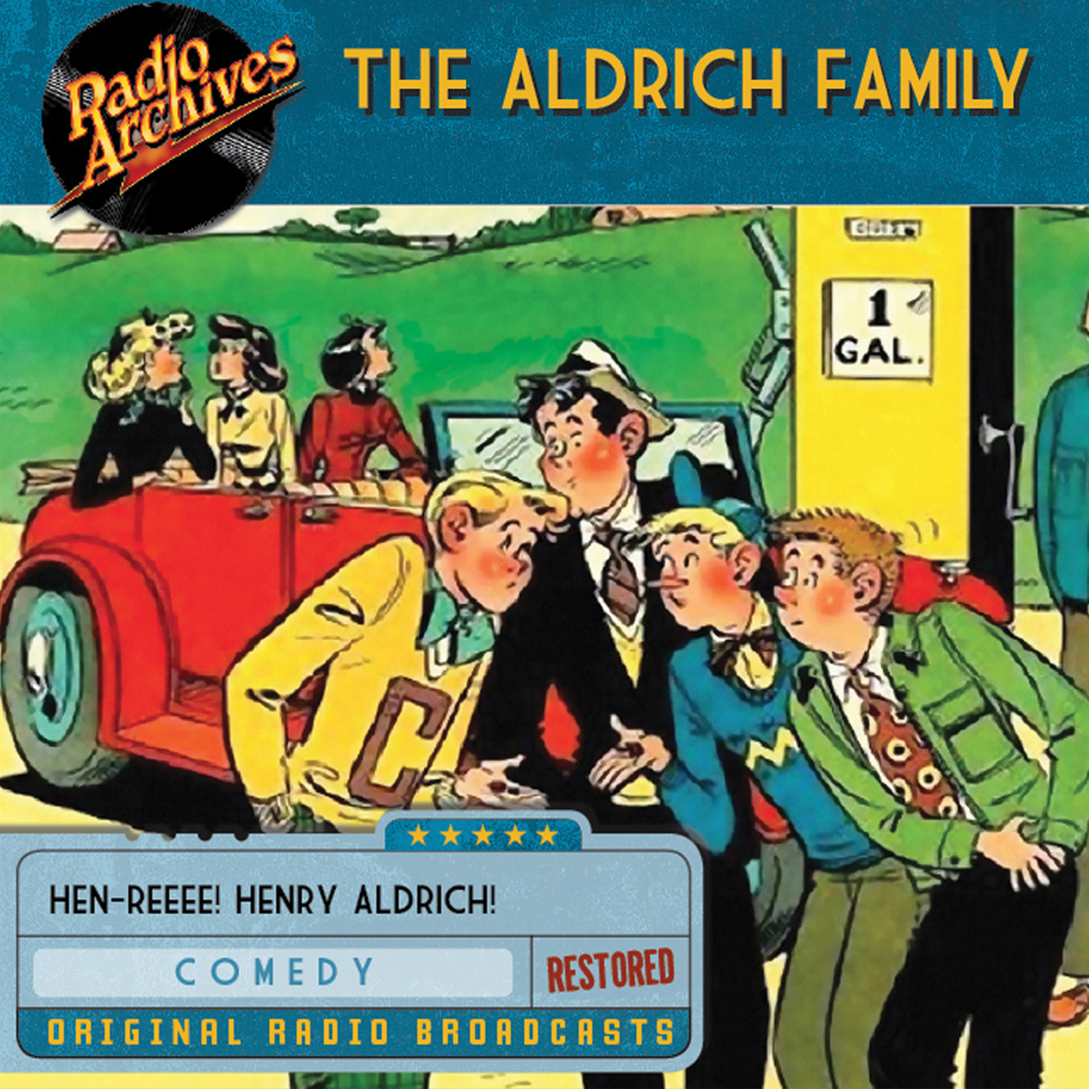 Printable The Aldrich Family Audiobook Cover Art