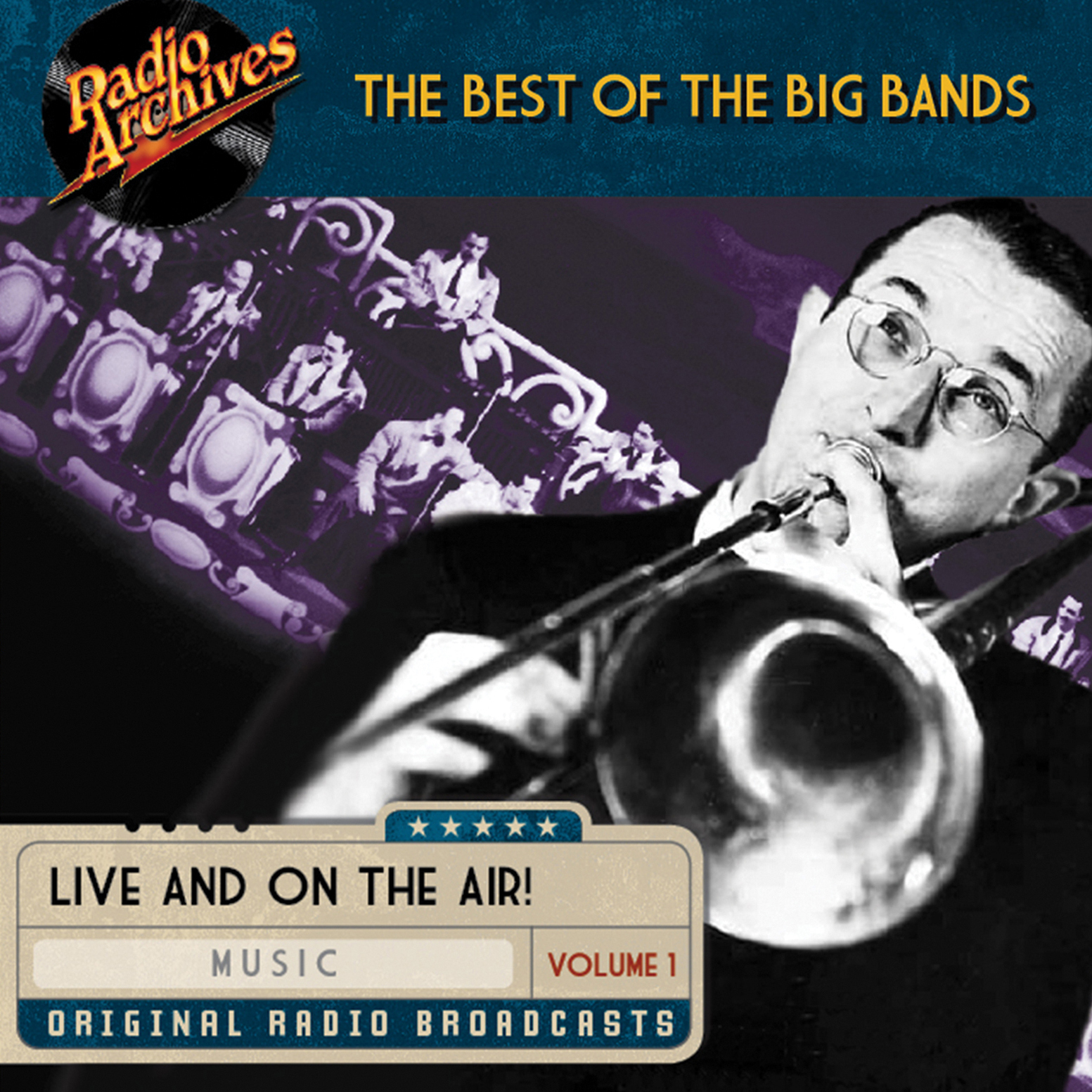 Printable Best of the Big Bands, Volume 1 Audiobook Cover Art
