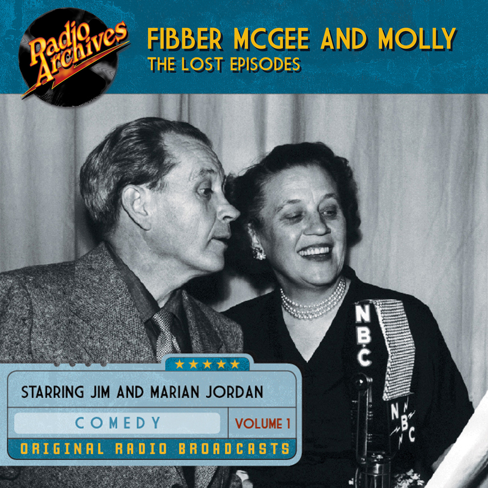 Printable Fibber McGee and Molly, the Lost Episodes, Volume 1 Audiobook Cover Art
