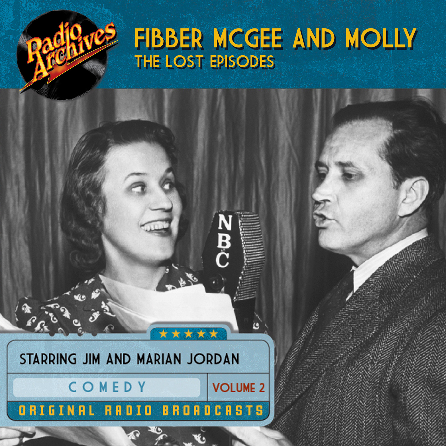 Printable Fibber McGee and Molly, the Lost Episodes, Volume 2 Audiobook Cover Art