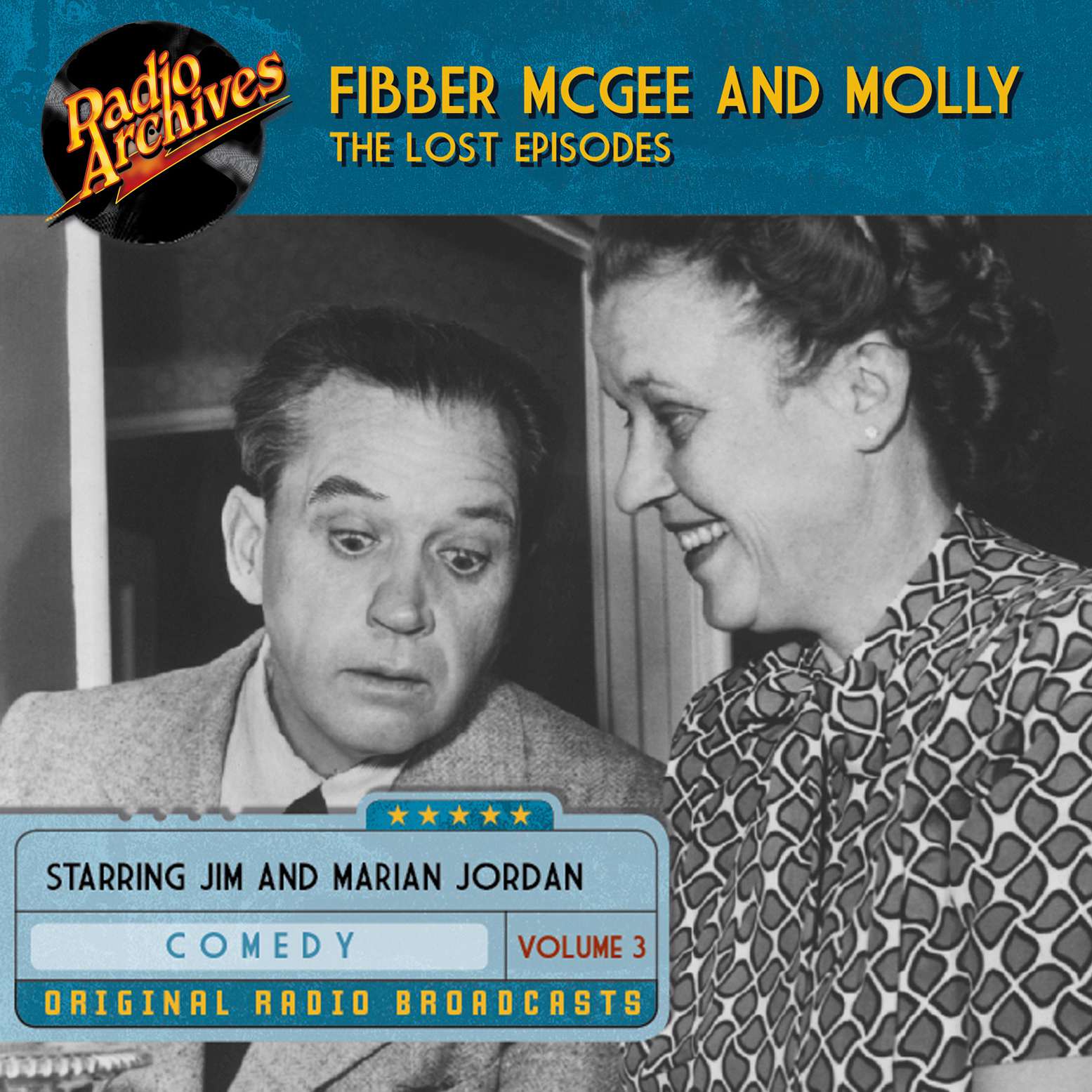 Printable Fibber McGee and Molly, the Lost Episodes, Volume 3 Audiobook Cover Art