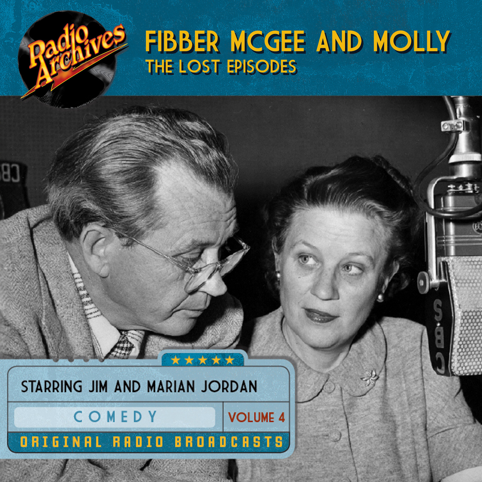 Printable Fibber McGee and Molly, the Lost Episodes, Volume 4 Audiobook Cover Art