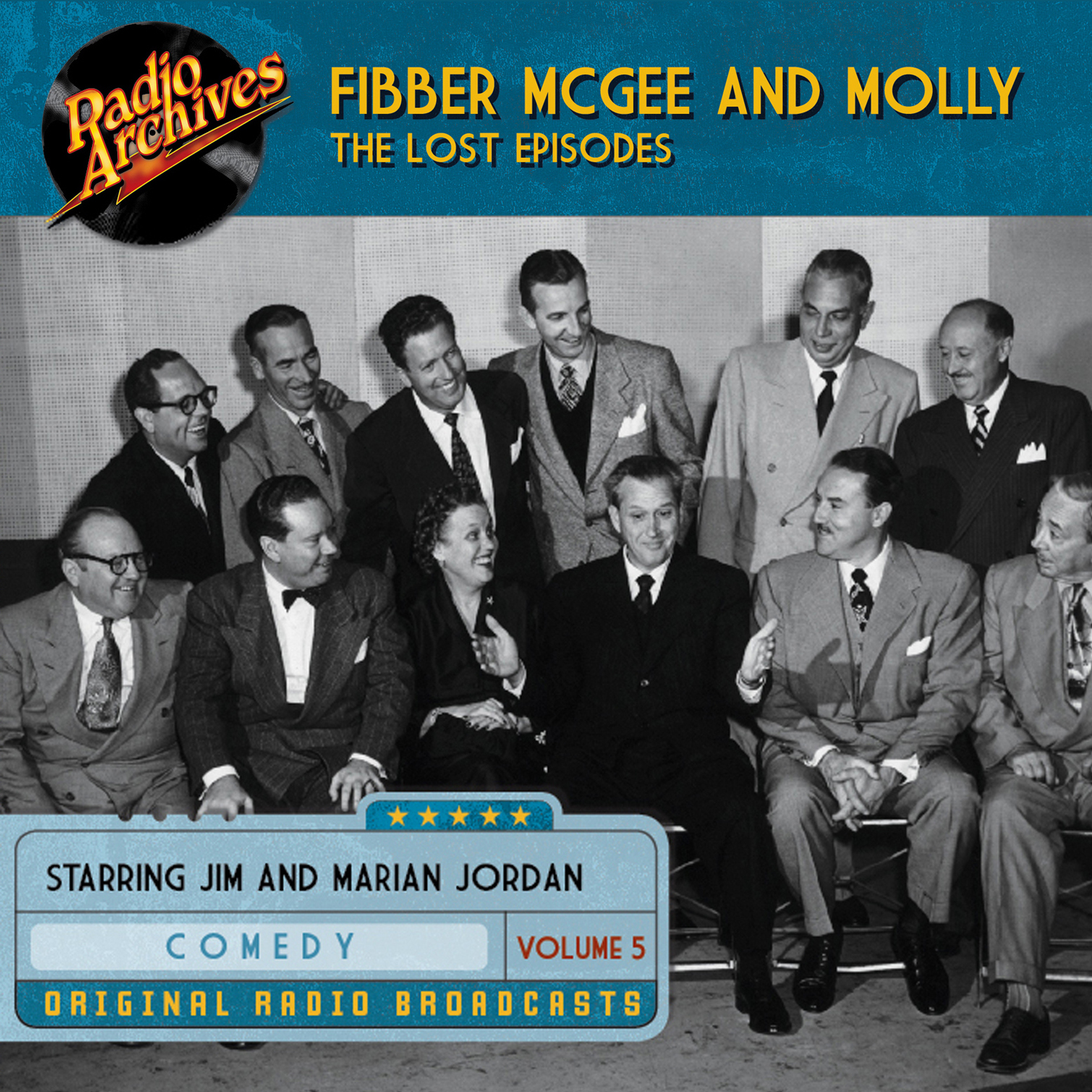 Printable Fibber McGee and Molly, the Lost Episodes, Volume 5 Audiobook Cover Art
