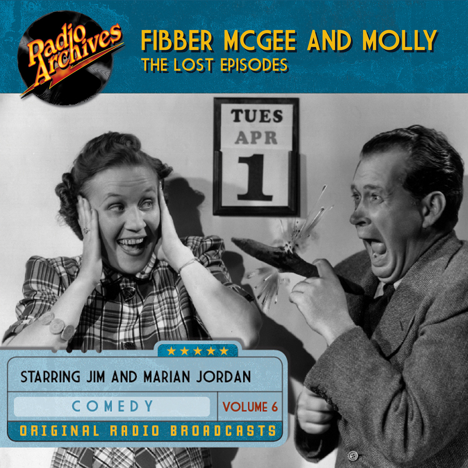 Printable Fibber McGee and Molly, the Lost Episodes, Volume 6 Audiobook Cover Art