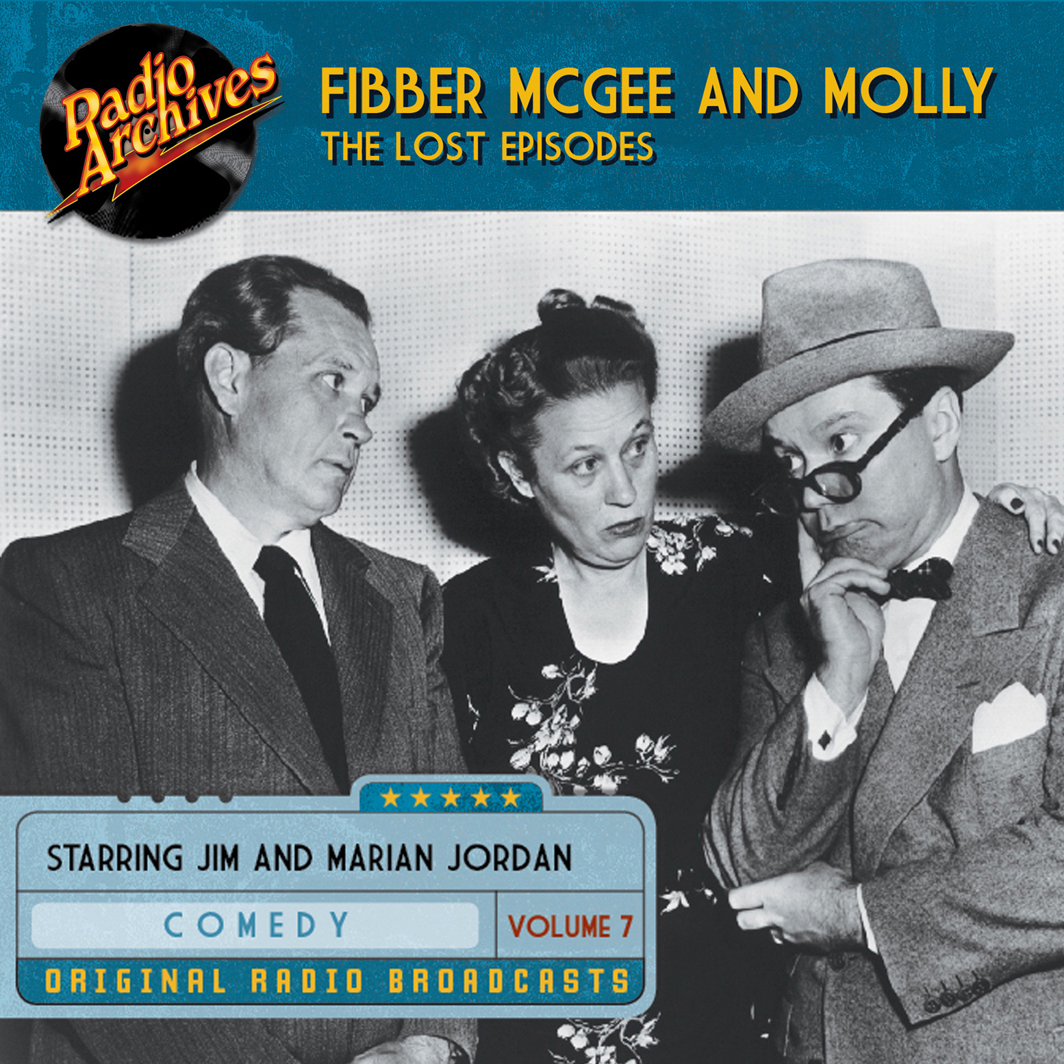 Printable Fibber McGee and Molly, the Lost Episodes, Volume 7 Audiobook Cover Art