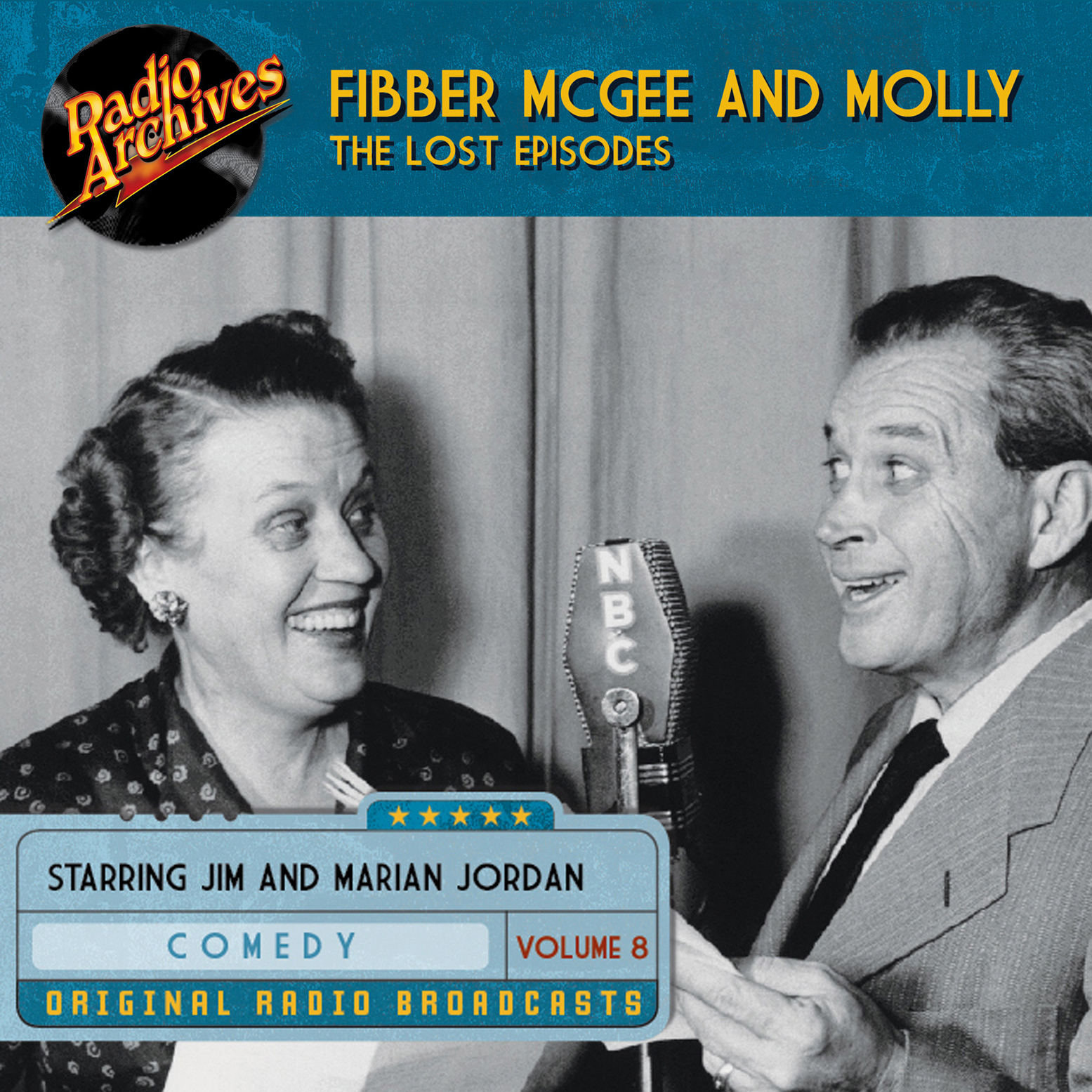 Printable Fibber McGee and Molly, the Lost Episodes, Volume 8 Audiobook Cover Art