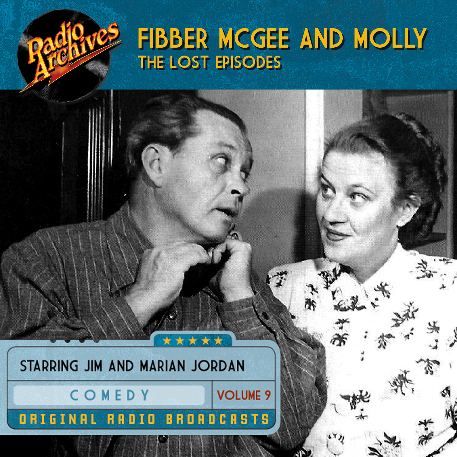 Printable Fibber McGee and Molly, the Lost Episodes, Volume 9 Audiobook Cover Art