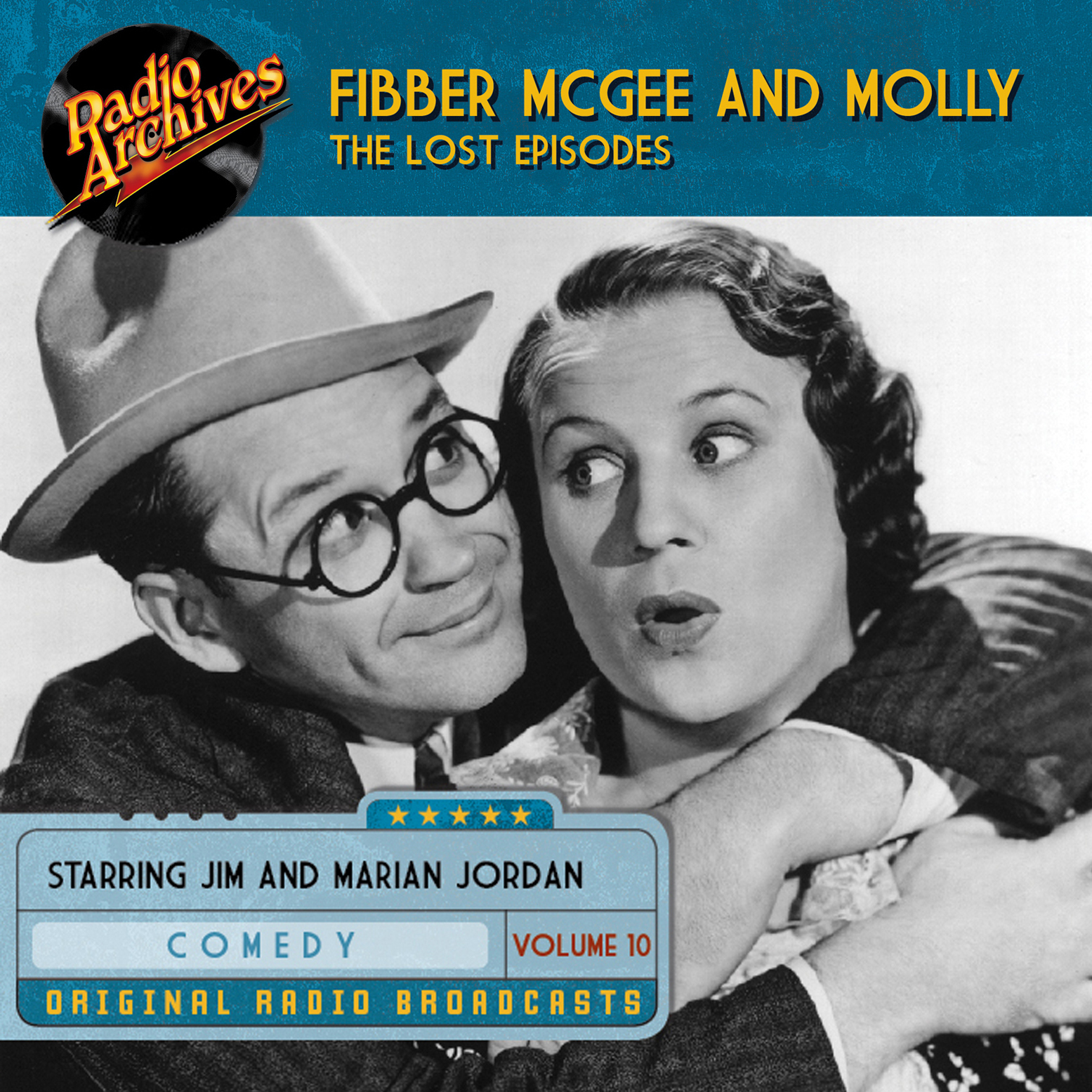 Printable Fibber McGee and Molly, the Lost Episodes, Volume 10 Audiobook Cover Art