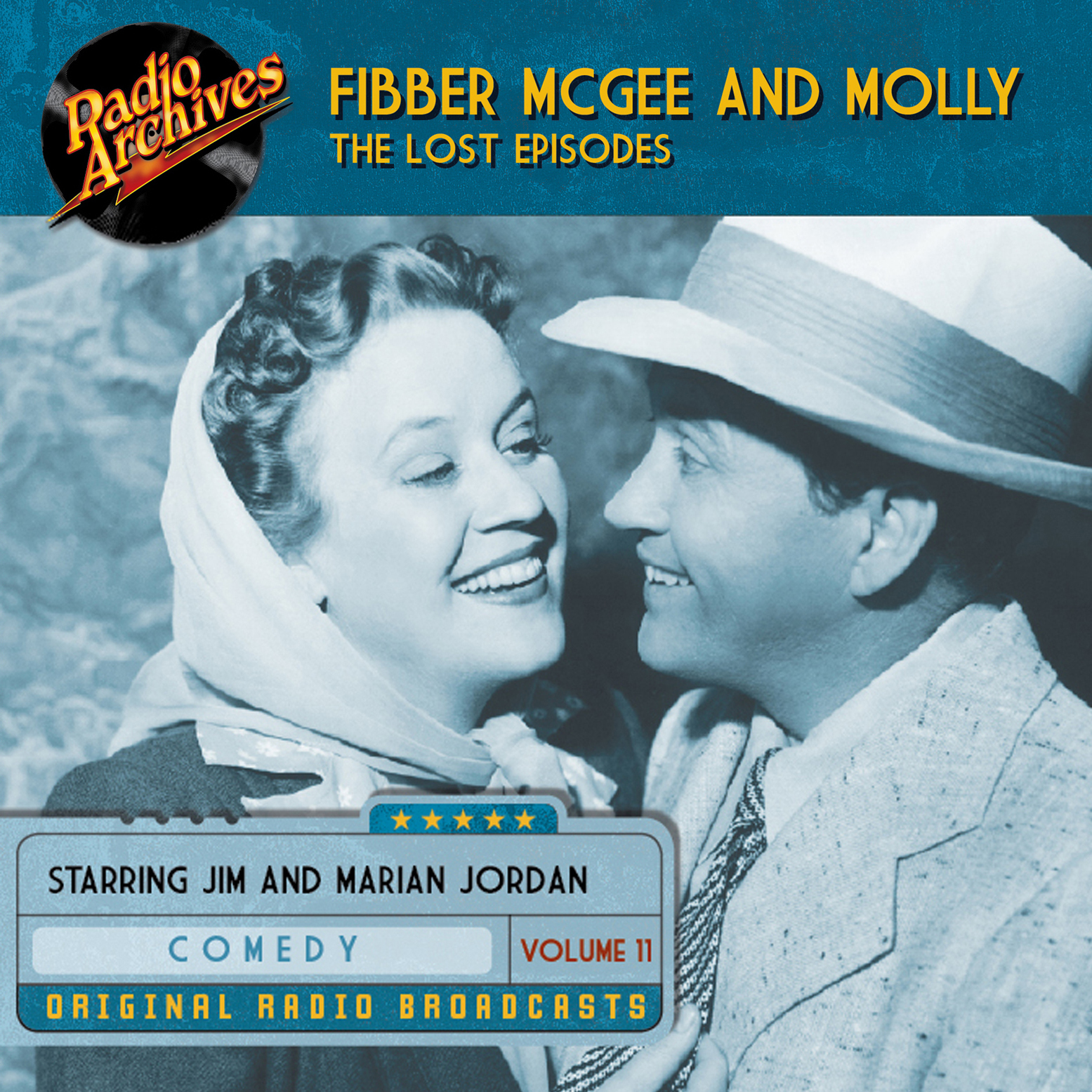 Printable Fibber McGee and Molly, the Lost Episodes, Volume 11 Audiobook Cover Art