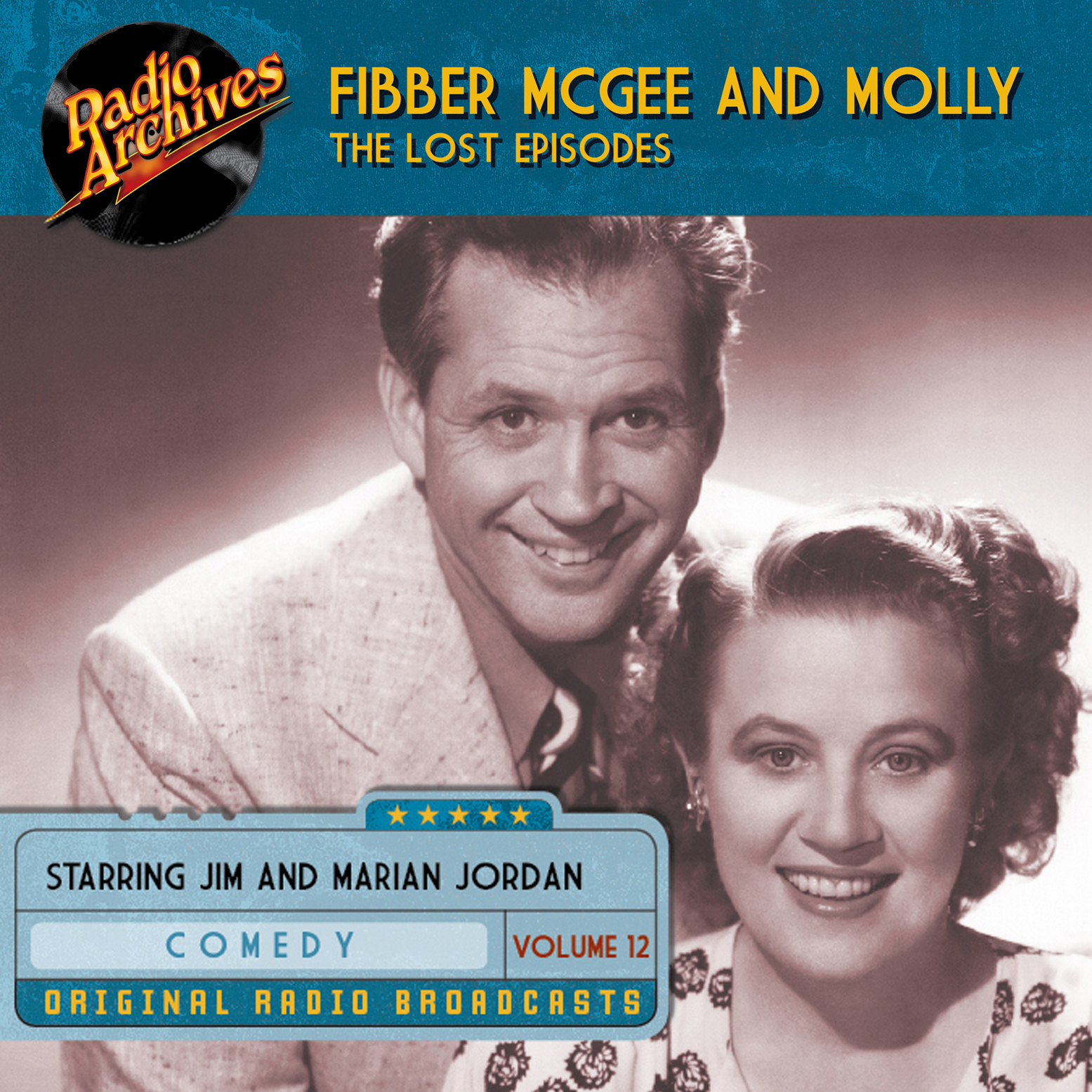 Printable Fibber McGee and Molly, the Lost Episodes, Volume 12 Audiobook Cover Art