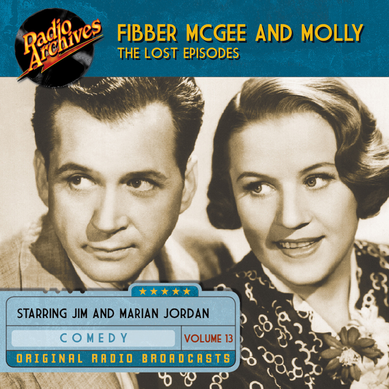 Printable Fibber McGee and Molly, the Lost Episodes, Volume 13 Audiobook Cover Art
