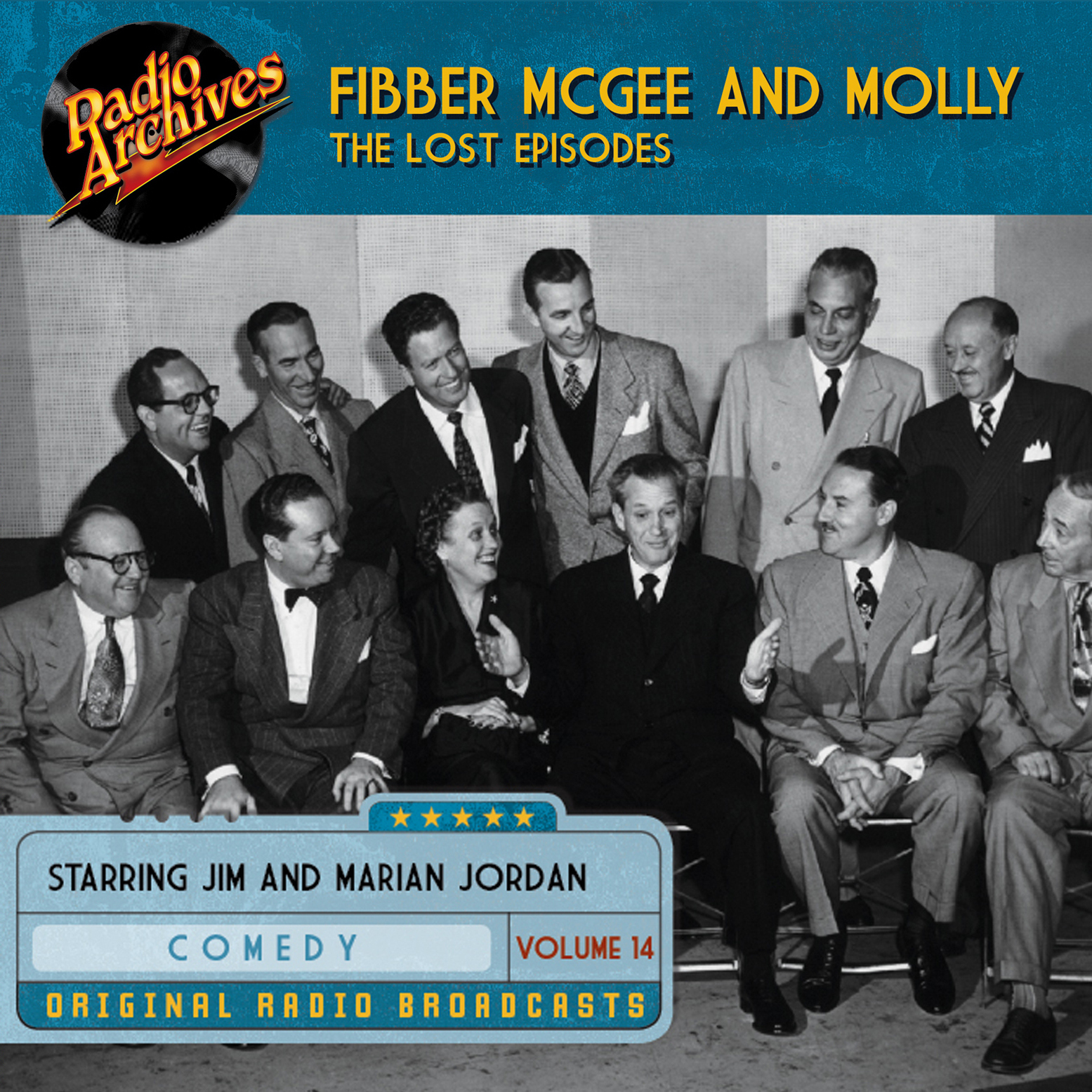 Printable Fibber McGee and Molly, the Lost Episodes, Volume 14 Audiobook Cover Art