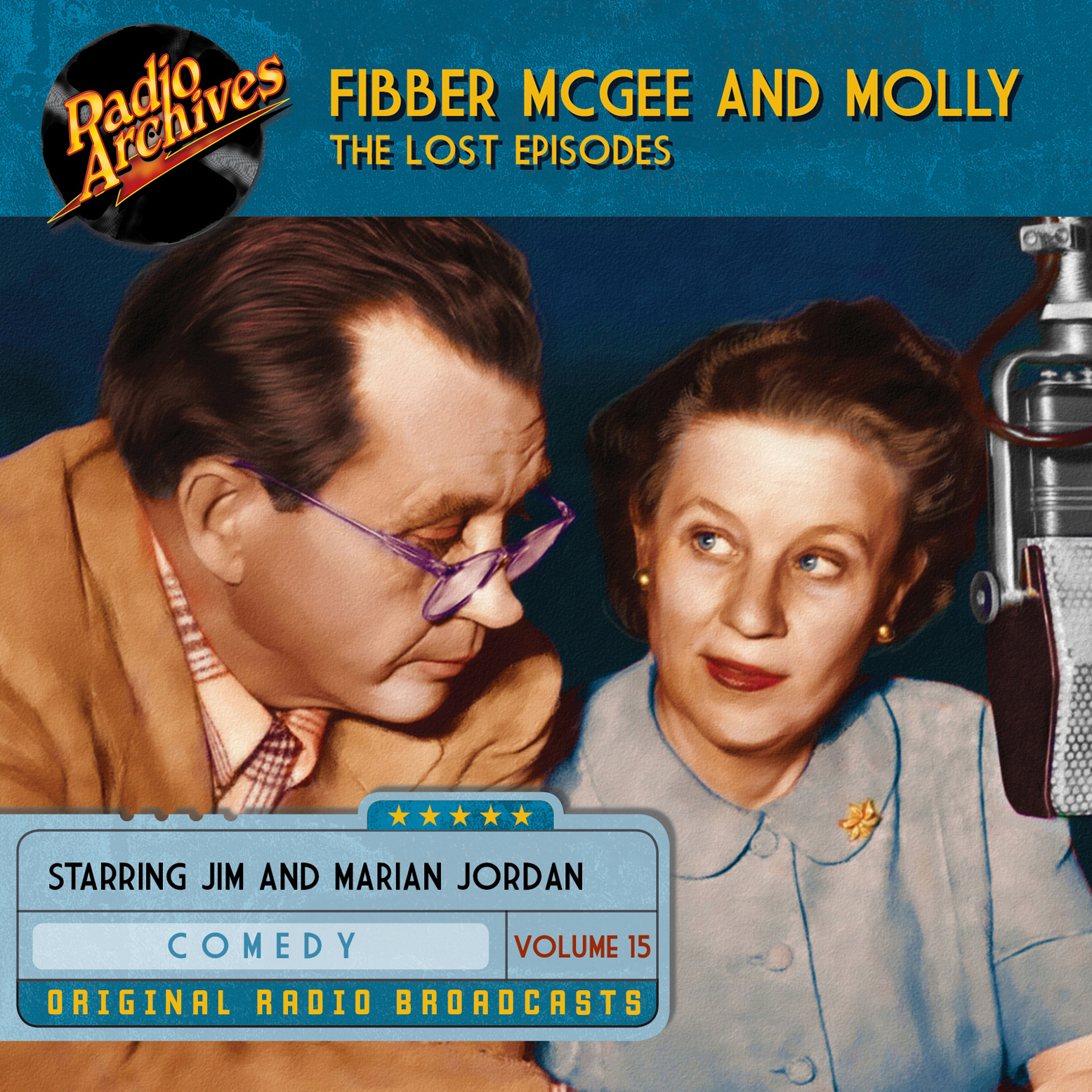 Printable Fibber McGee and Molly, the Lost Episodes, Volume 15 Audiobook Cover Art
