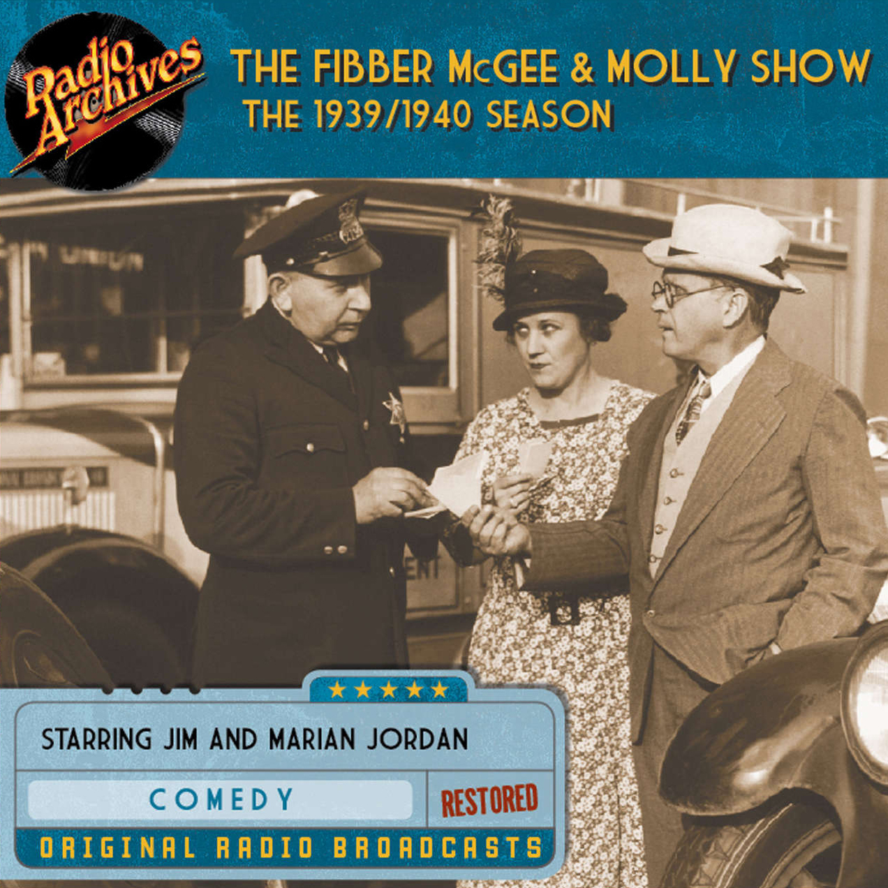 Printable Fibber McGee and Molly Show: The 1939–1940 Season Audiobook Cover Art