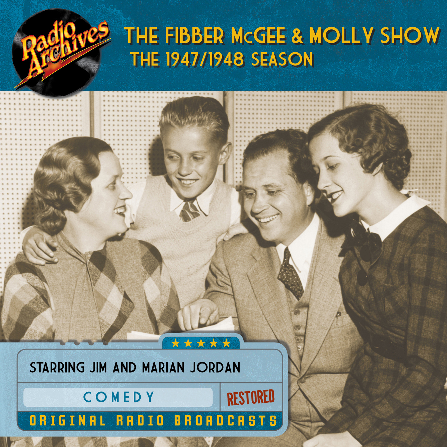Printable Fibber McGee and Molly Show: The 1947–1948 Season Audiobook Cover Art