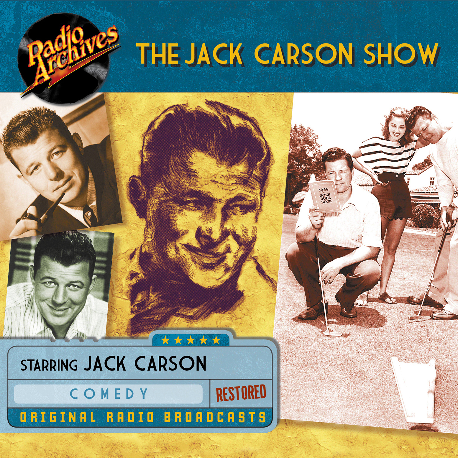 Printable Jack Carson Show Audiobook Cover Art
