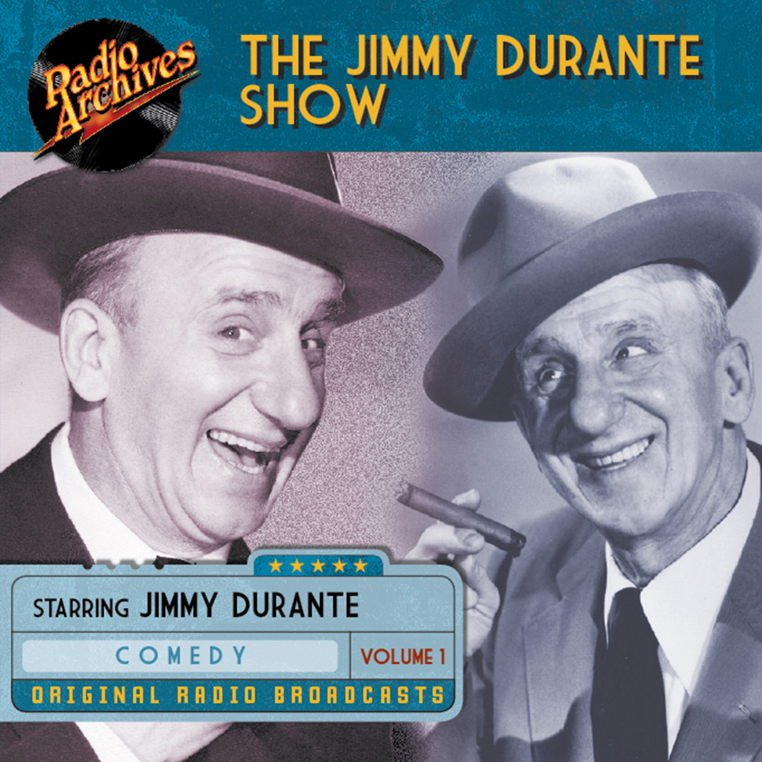Printable Jimmy Durante Show, Volume 1 Audiobook Cover Art