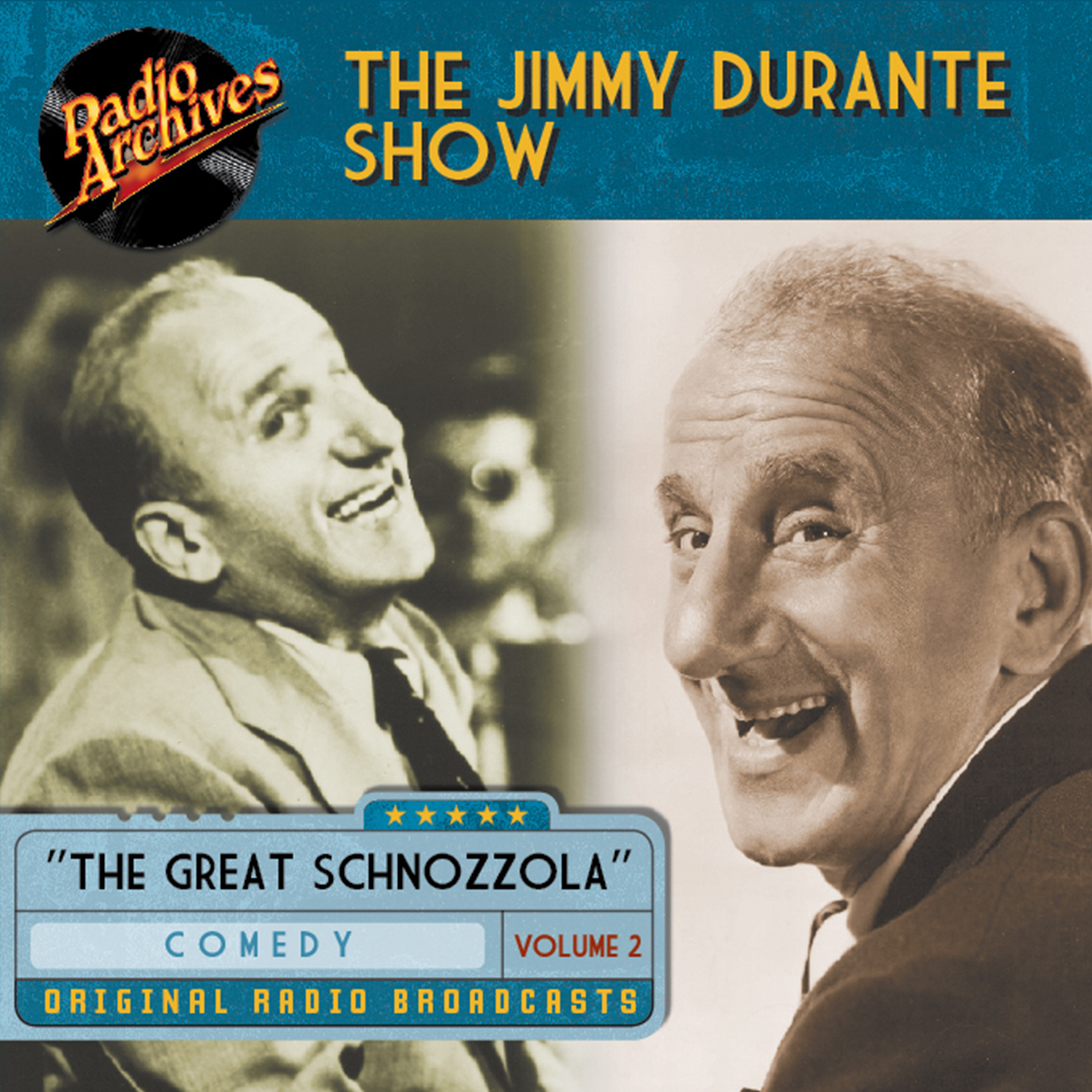 Printable Jimmy Durante Show, Volume 2 Audiobook Cover Art