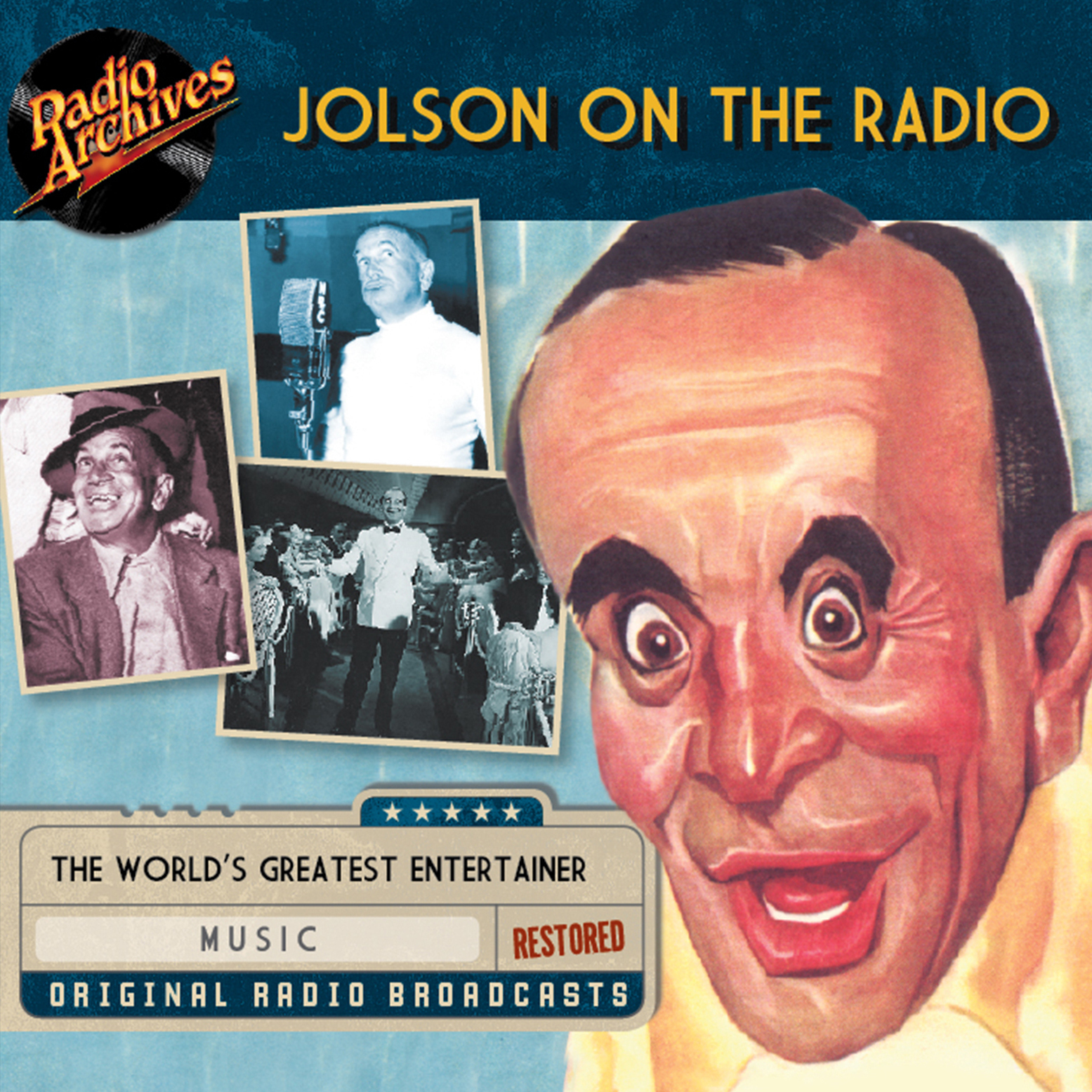 Printable Jolson on the Radio Audiobook Cover Art