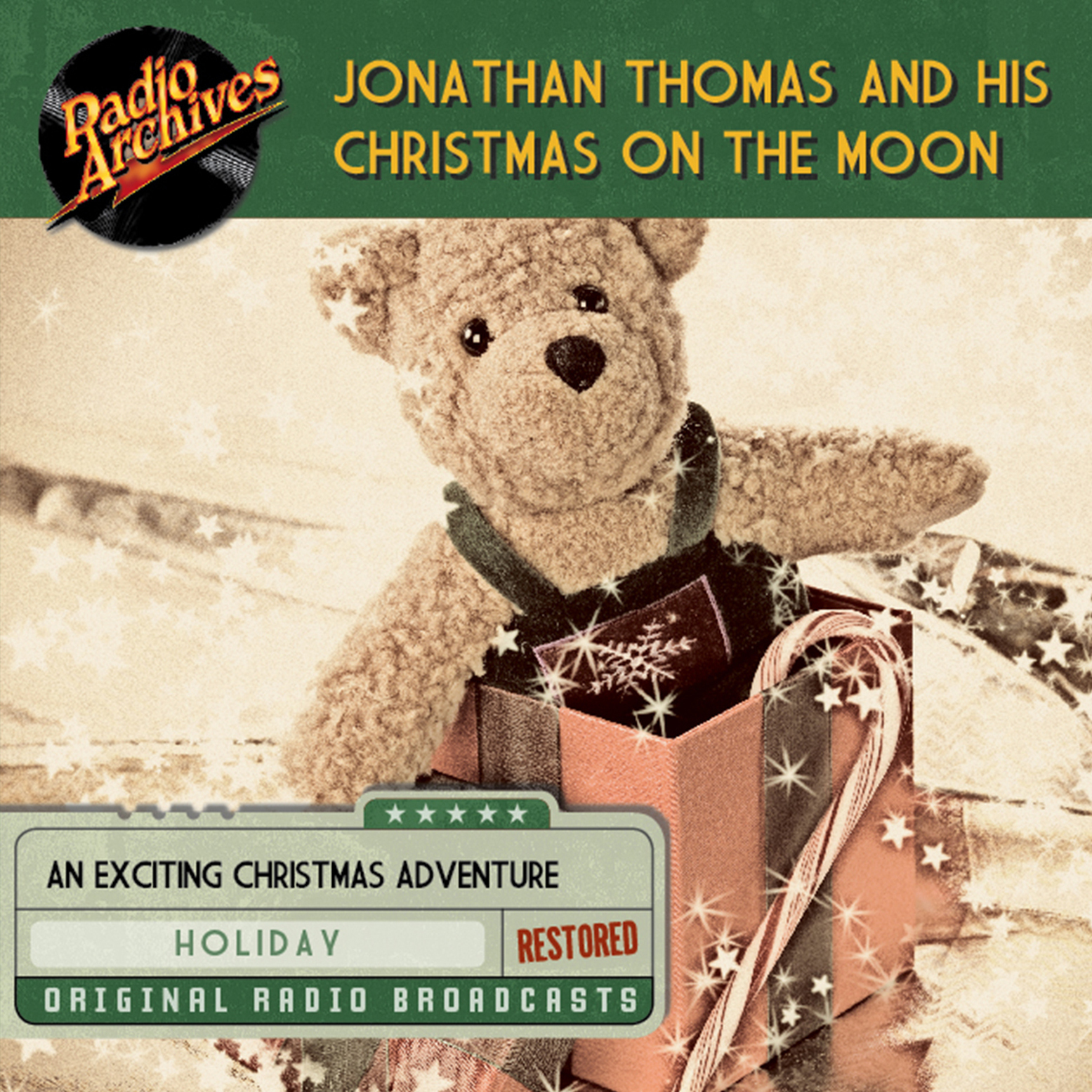 Printable Jonathan Thomas and his Christmas on the Moon Audiobook Cover Art